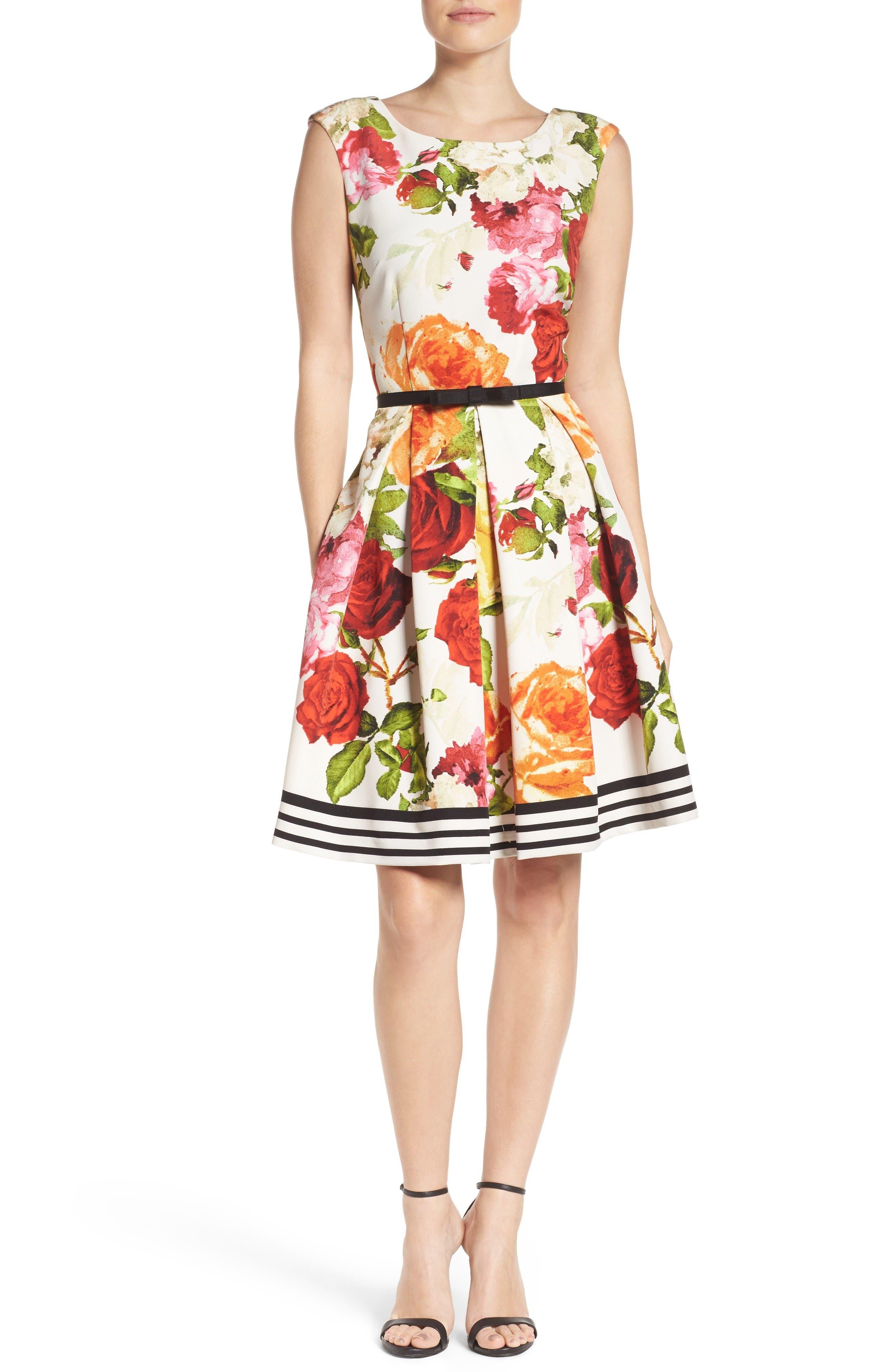 Alternate Image 4  - Gabby Skye Floral Fit & Flare Dress