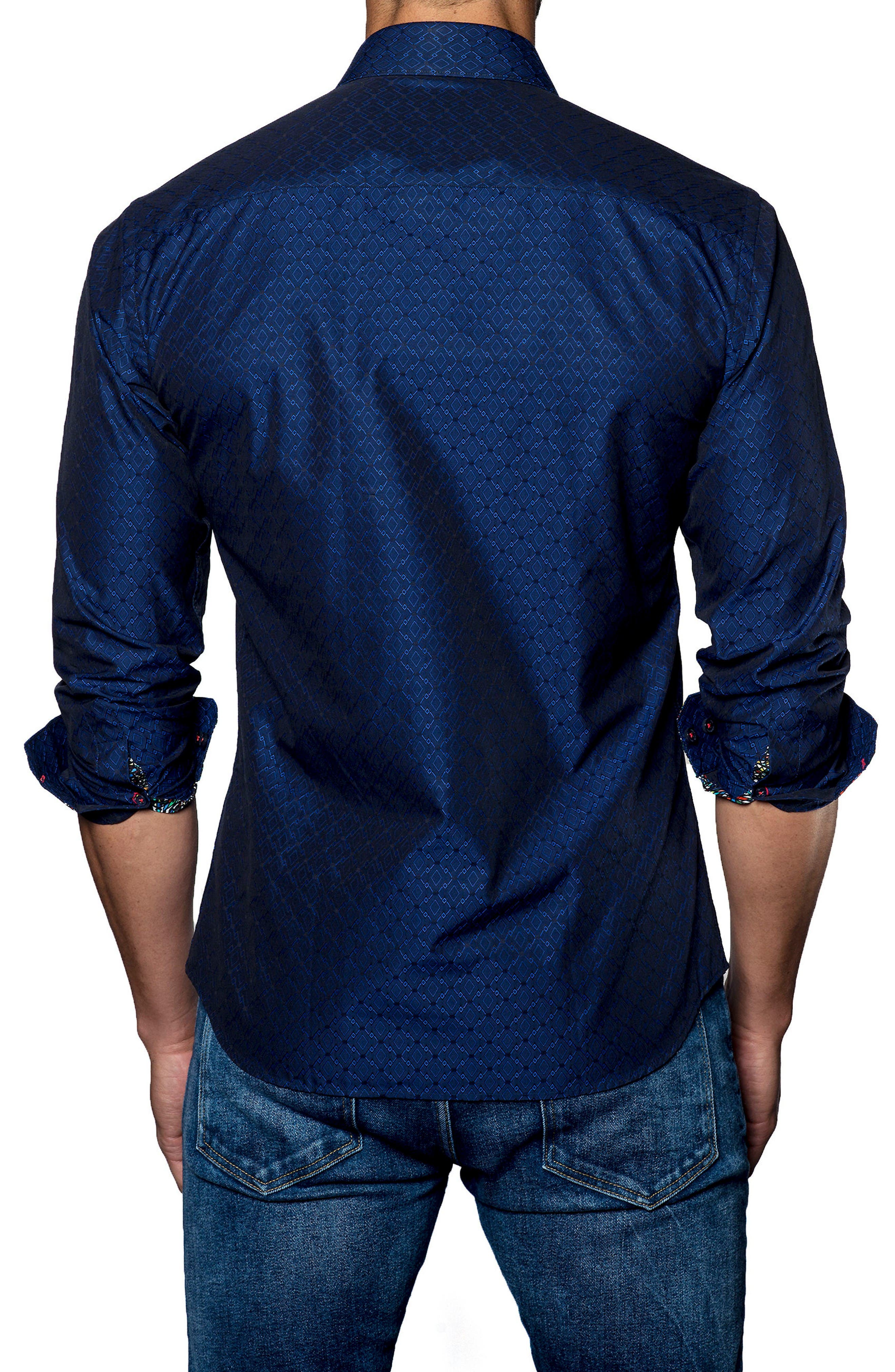 Alternate Image 2  - Jared Lang Trim Fit Solid Sport Shirt