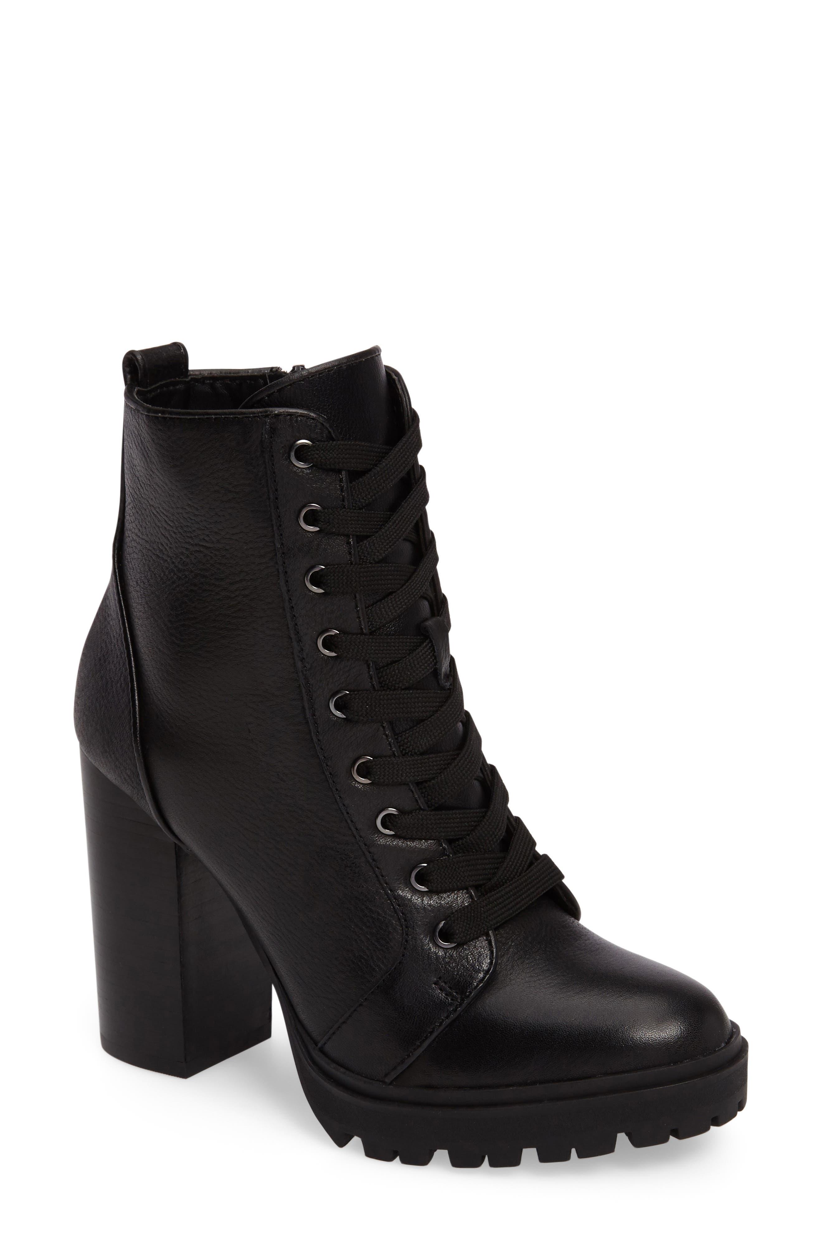 High Heel Lace Up Boots vzlse6Jj