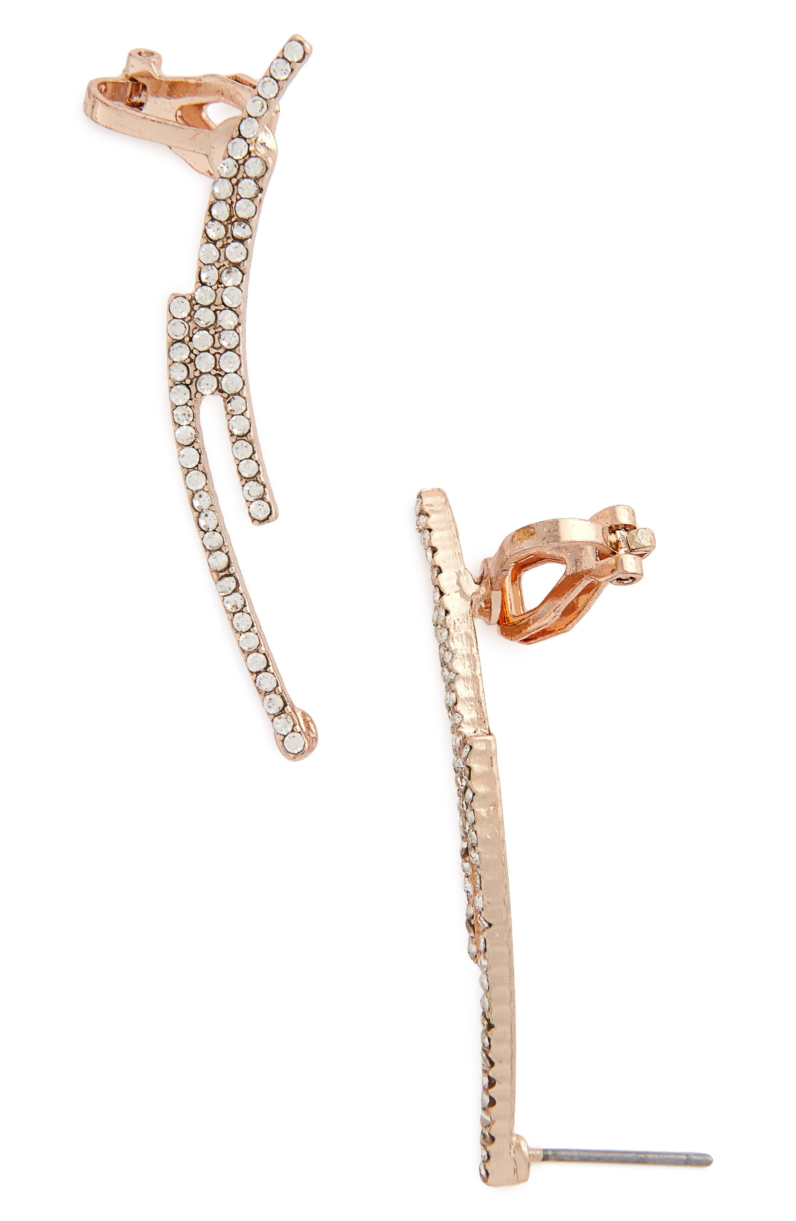 Main Image - Topshop Linear Crystal Ear Crawlers