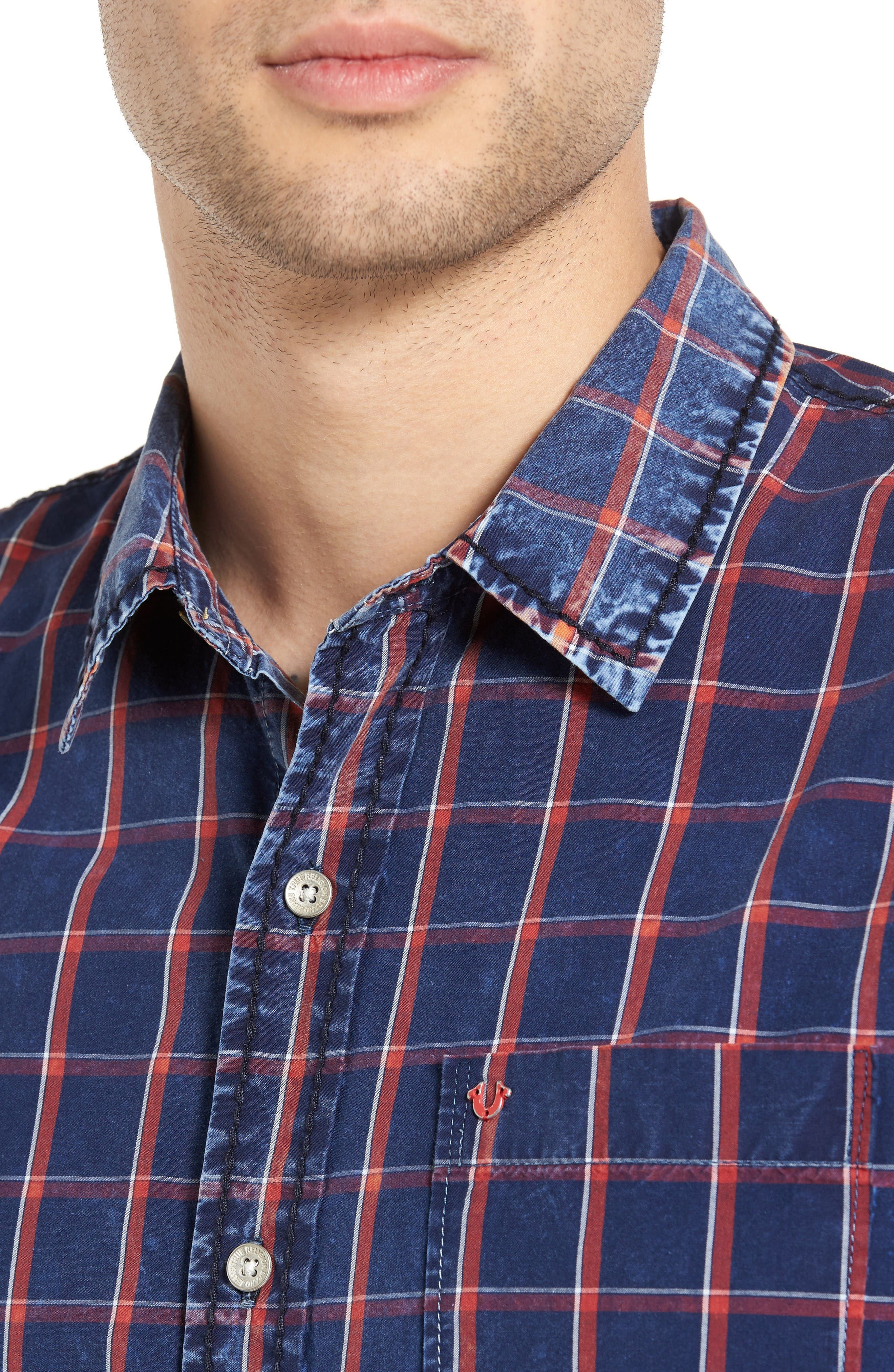 Plaid Shirt,                             Alternate thumbnail 4, color,                             Window Plaid