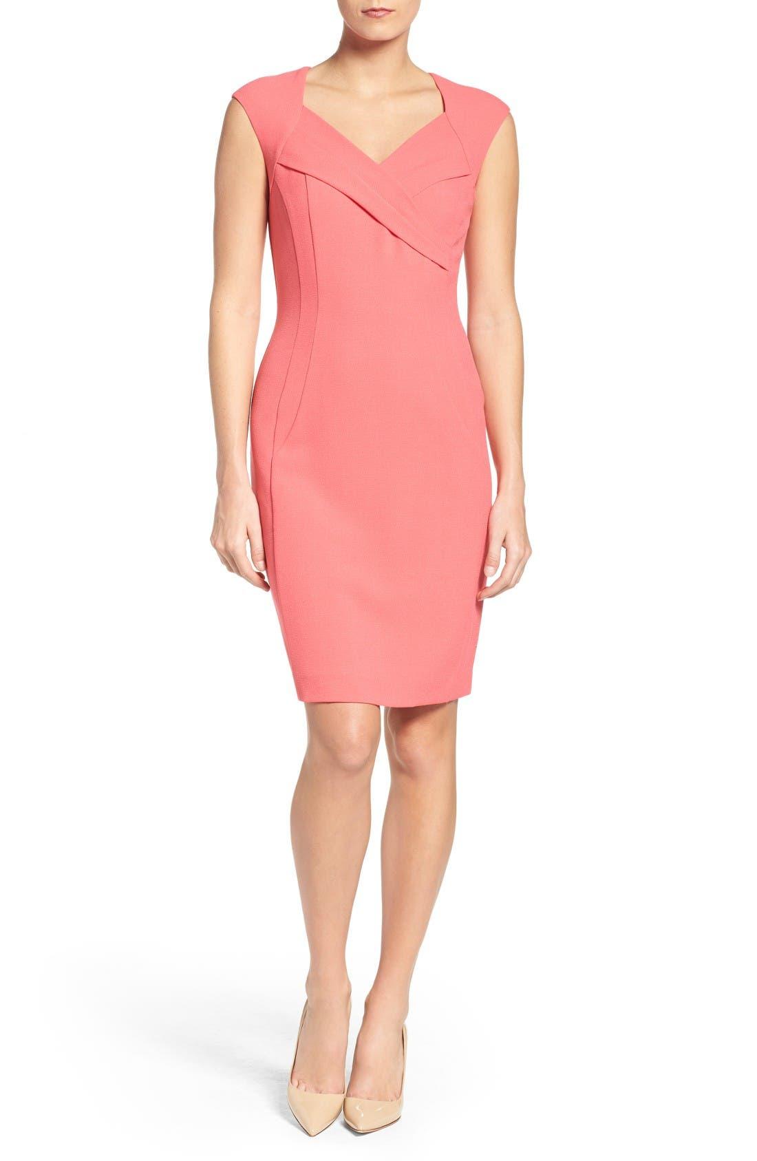 Alternate Image 4  - Ellen Tracy Crepe Sheath Dress