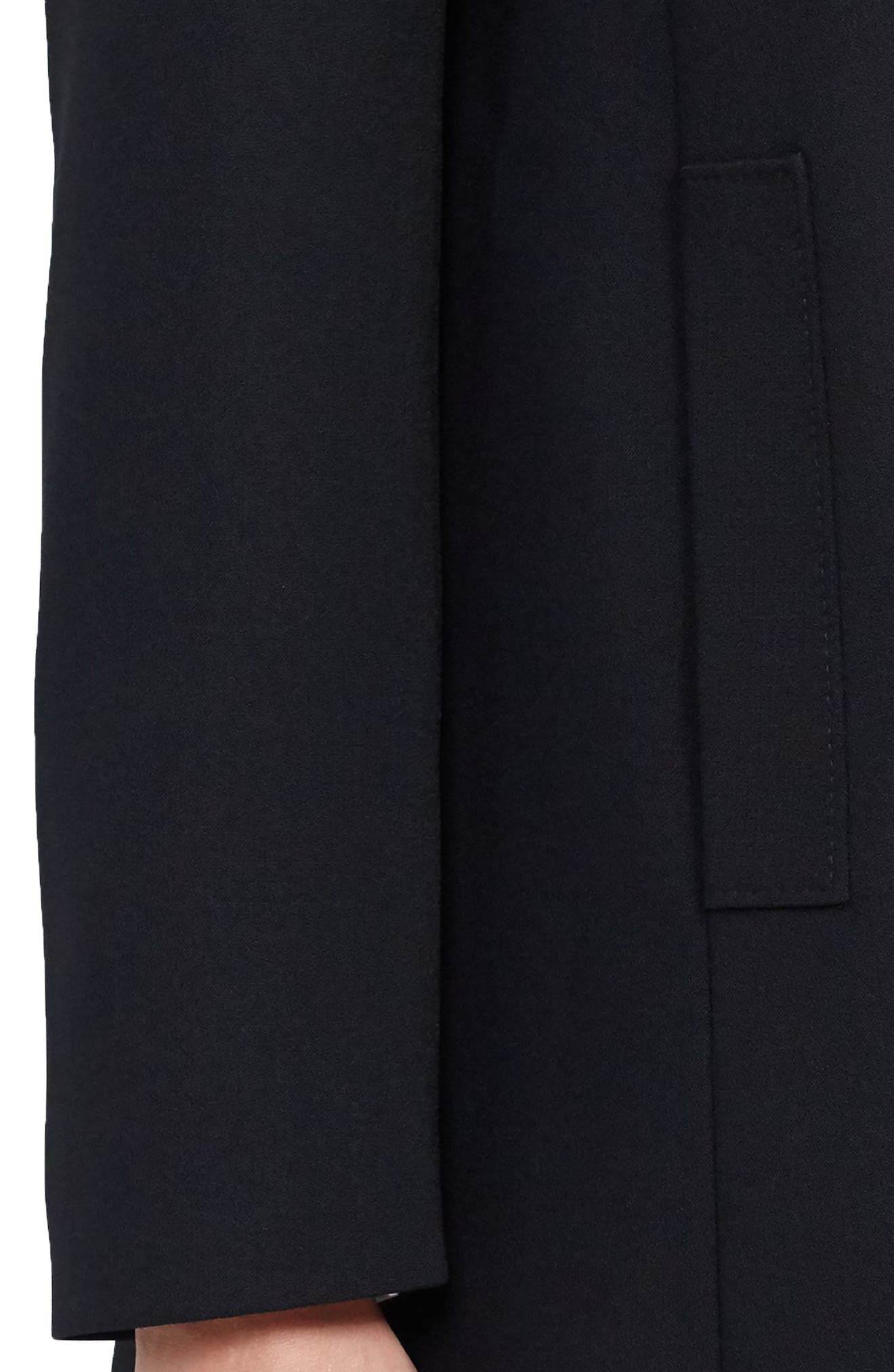 Crepe Jacket,                             Alternate thumbnail 4, color,                             Black
