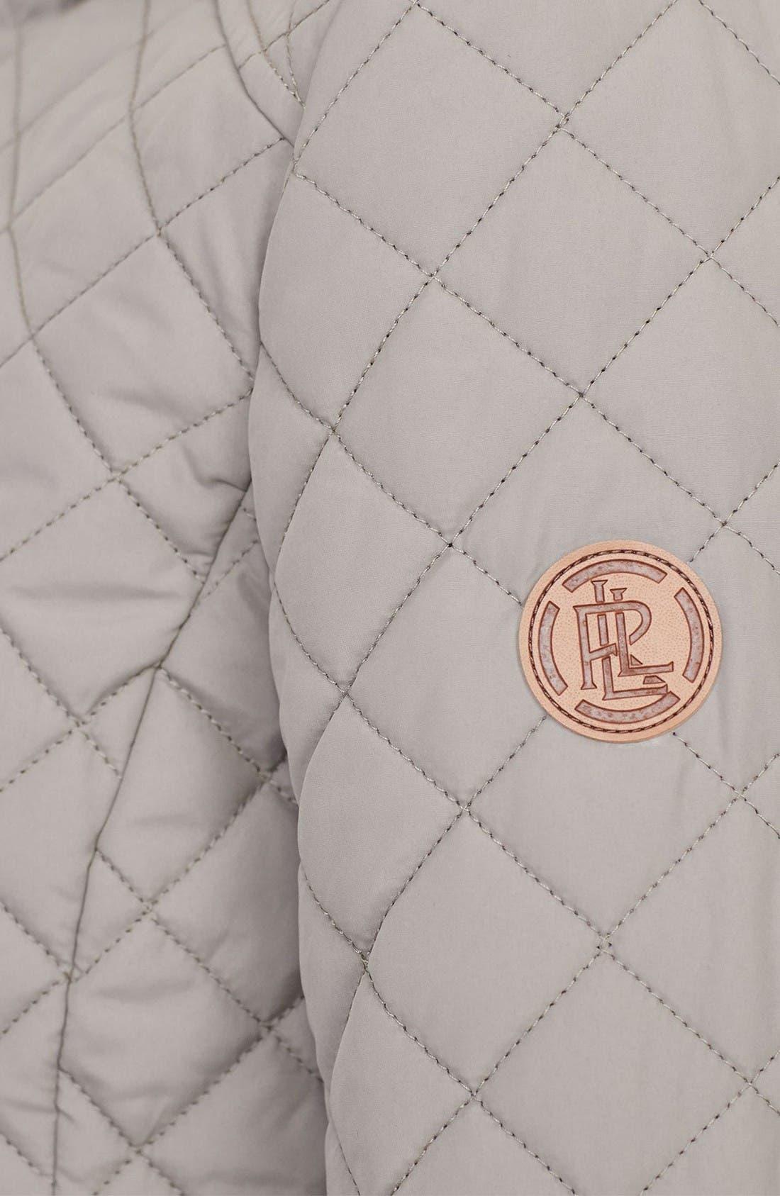 Alternate Image 3  - Lauren Ralph Lauren Faux Leather Trim Quilted Anorak