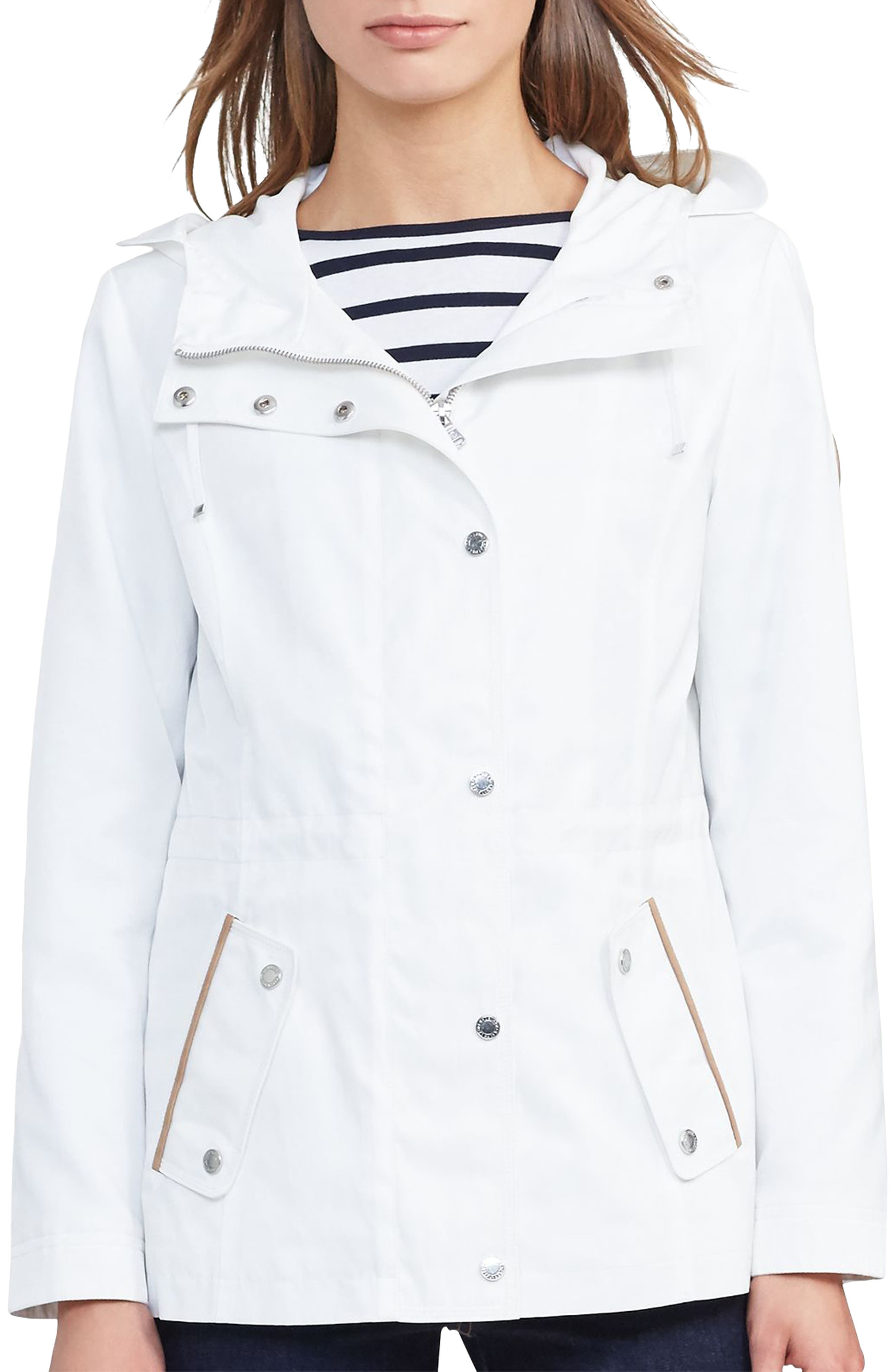 LAUREN RALPH LAUREN Hooded Drawcord Jacket