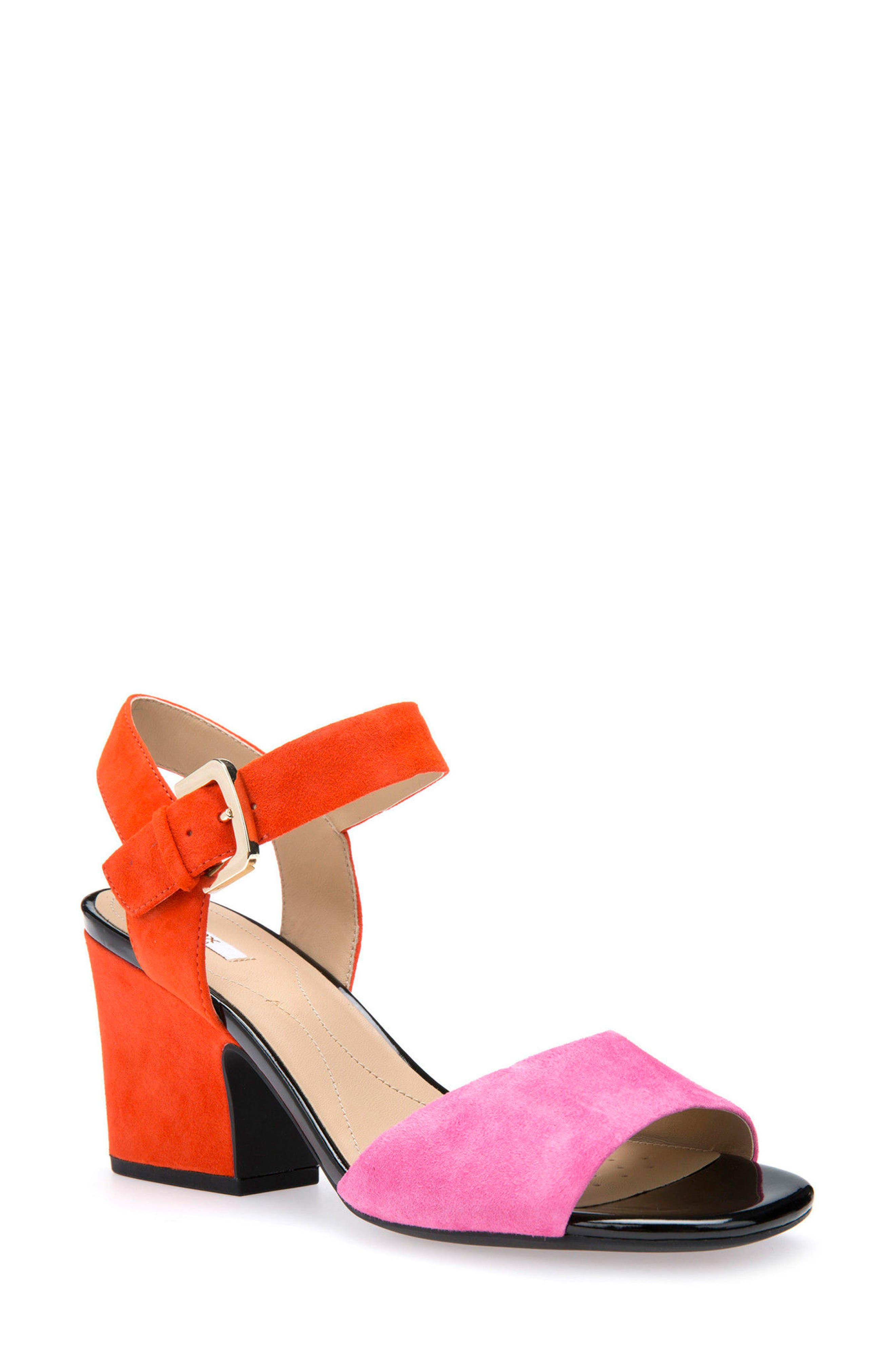 Alternate Image 1 Selected - Geox Marilyse Ankle Strap Sandal (Women)