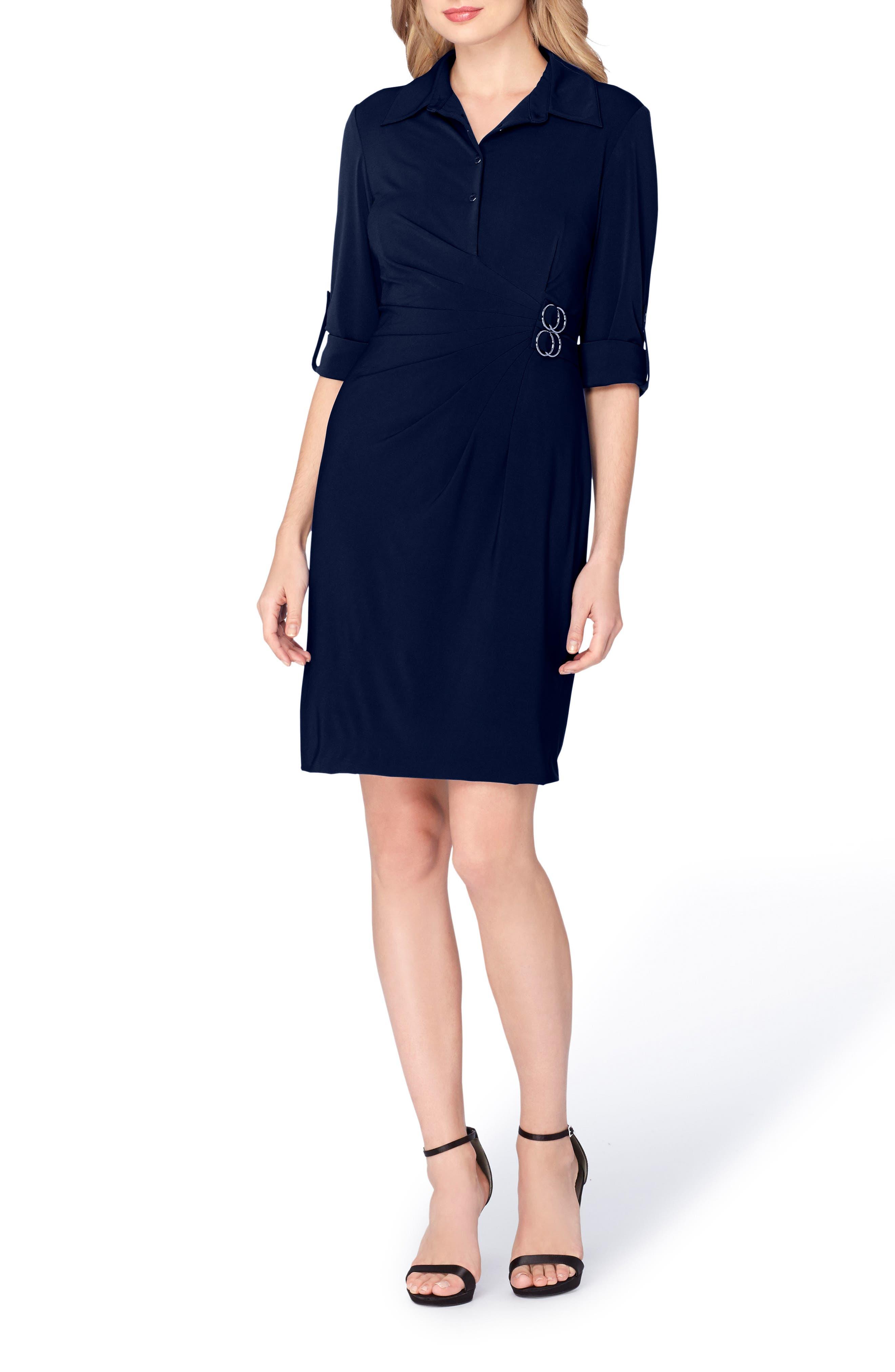Alternate Image 3  - Tahari Jersey Wrap Shirtdress (Regular & Petite)