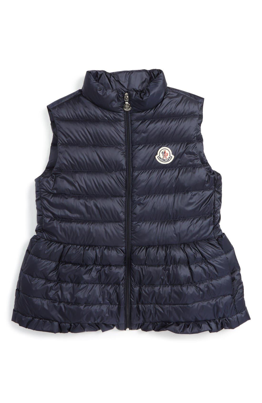 Moncler Cerame Water Resistant Down Vest (Toddler Girls, Little Girls & Big Girls)