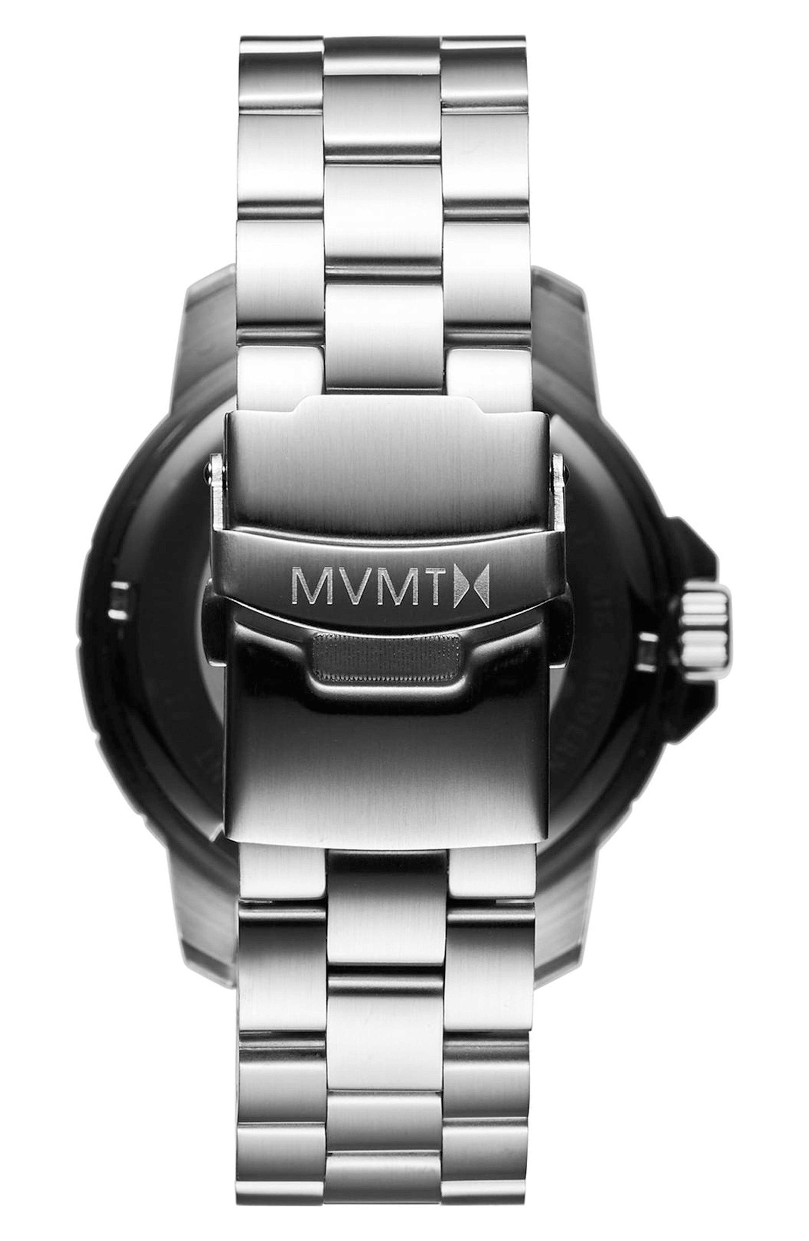 Modern Sport Bracelet Watch, 42mm,                             Alternate thumbnail 2, color,                             Black/ Silver