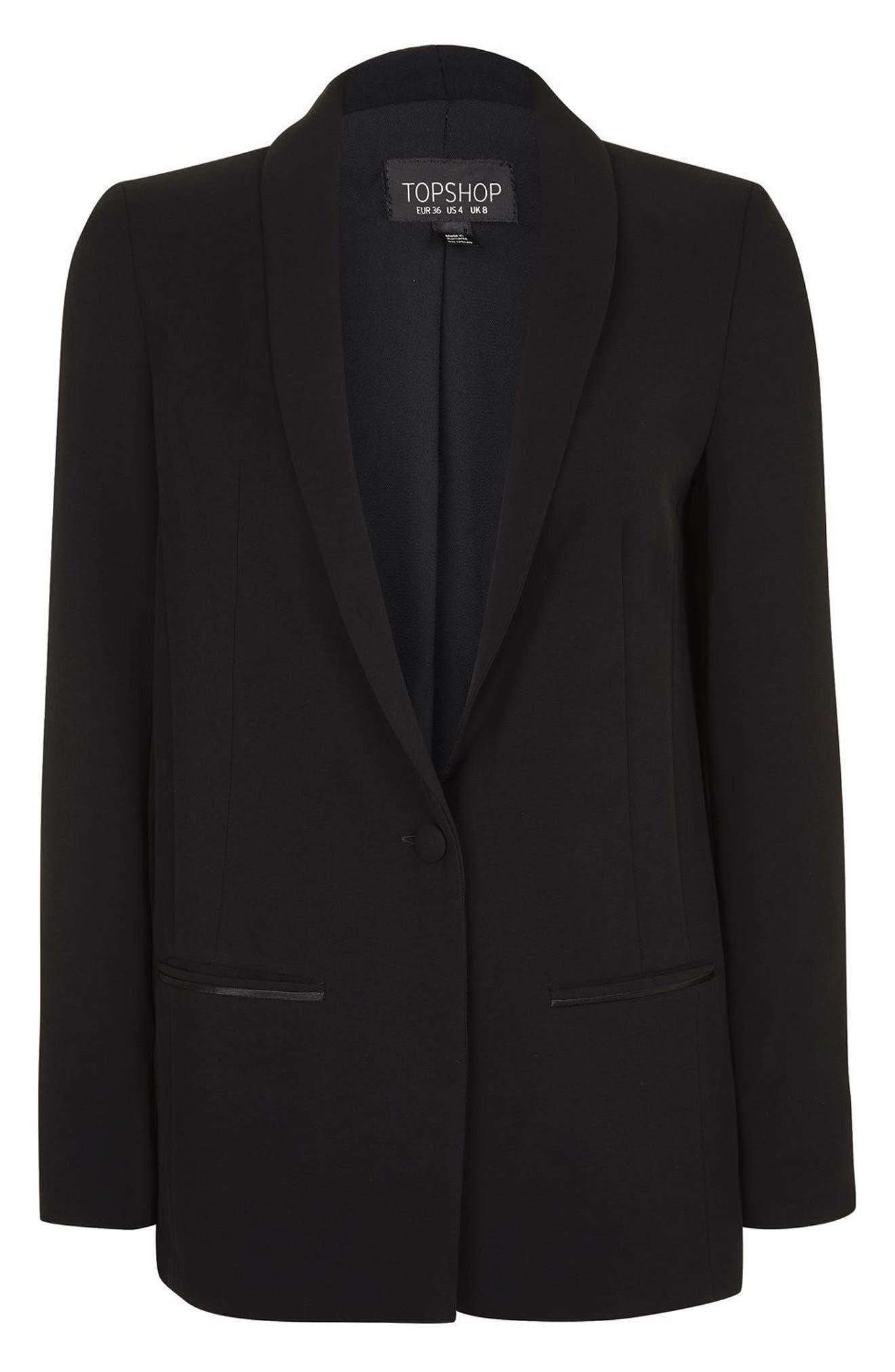 Main Image - Topshop Slouch Tuxedo Jacket