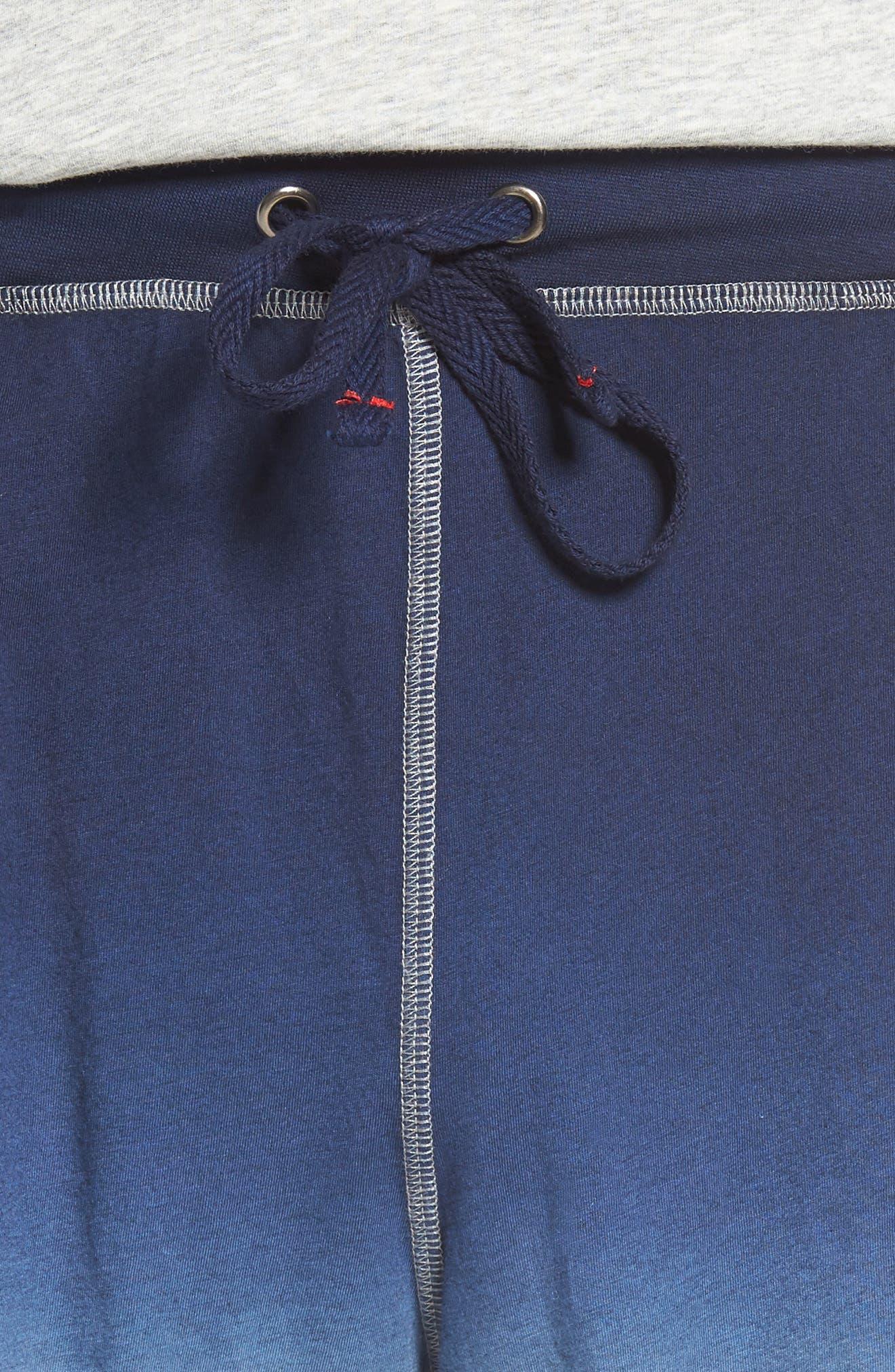 Dip Dye Lounge Shorts,                             Alternate thumbnail 4, color,                             Navy