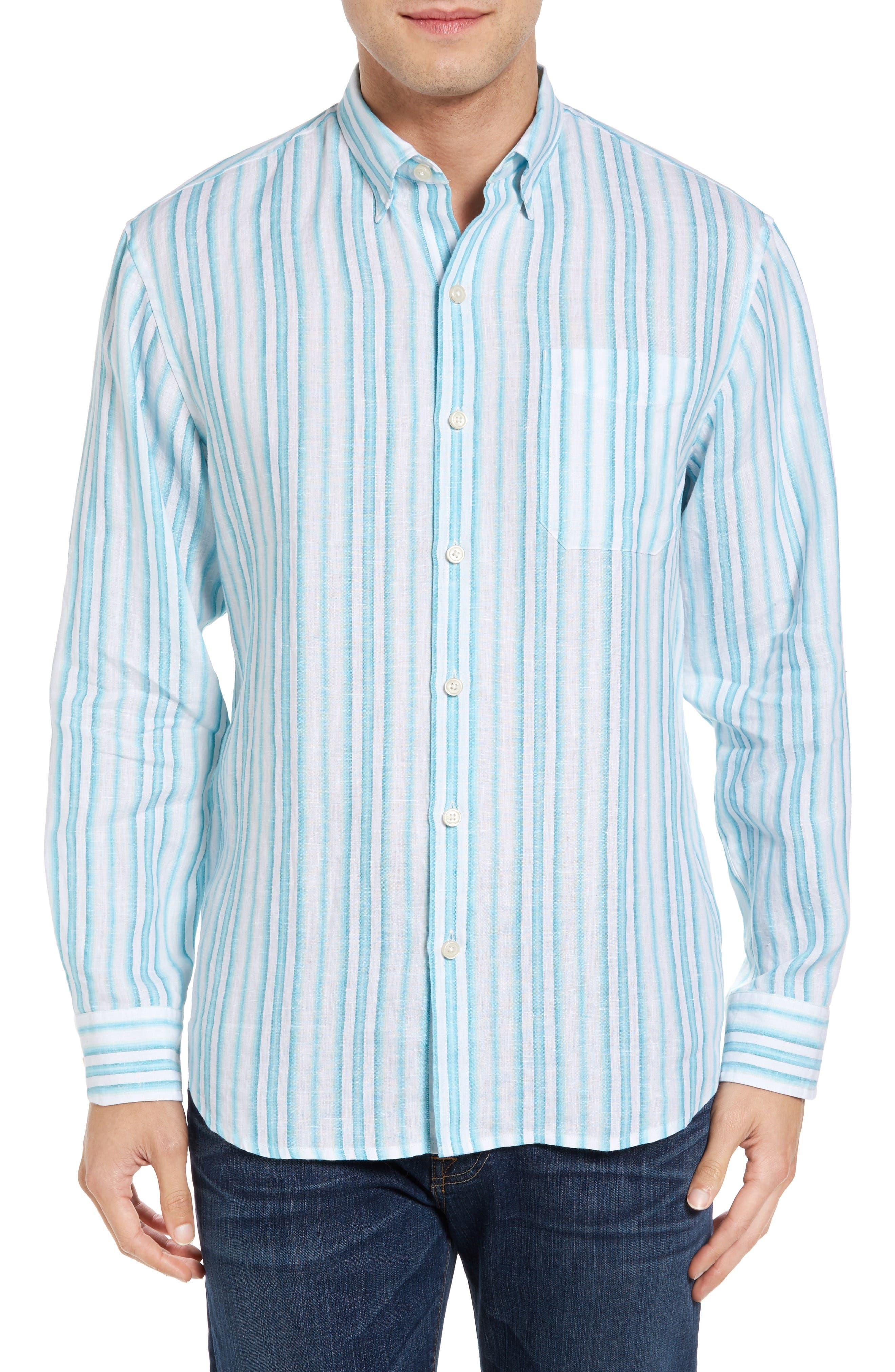 TOMMY BAHAMA Pintado Stripe Linen Sport Shirt
