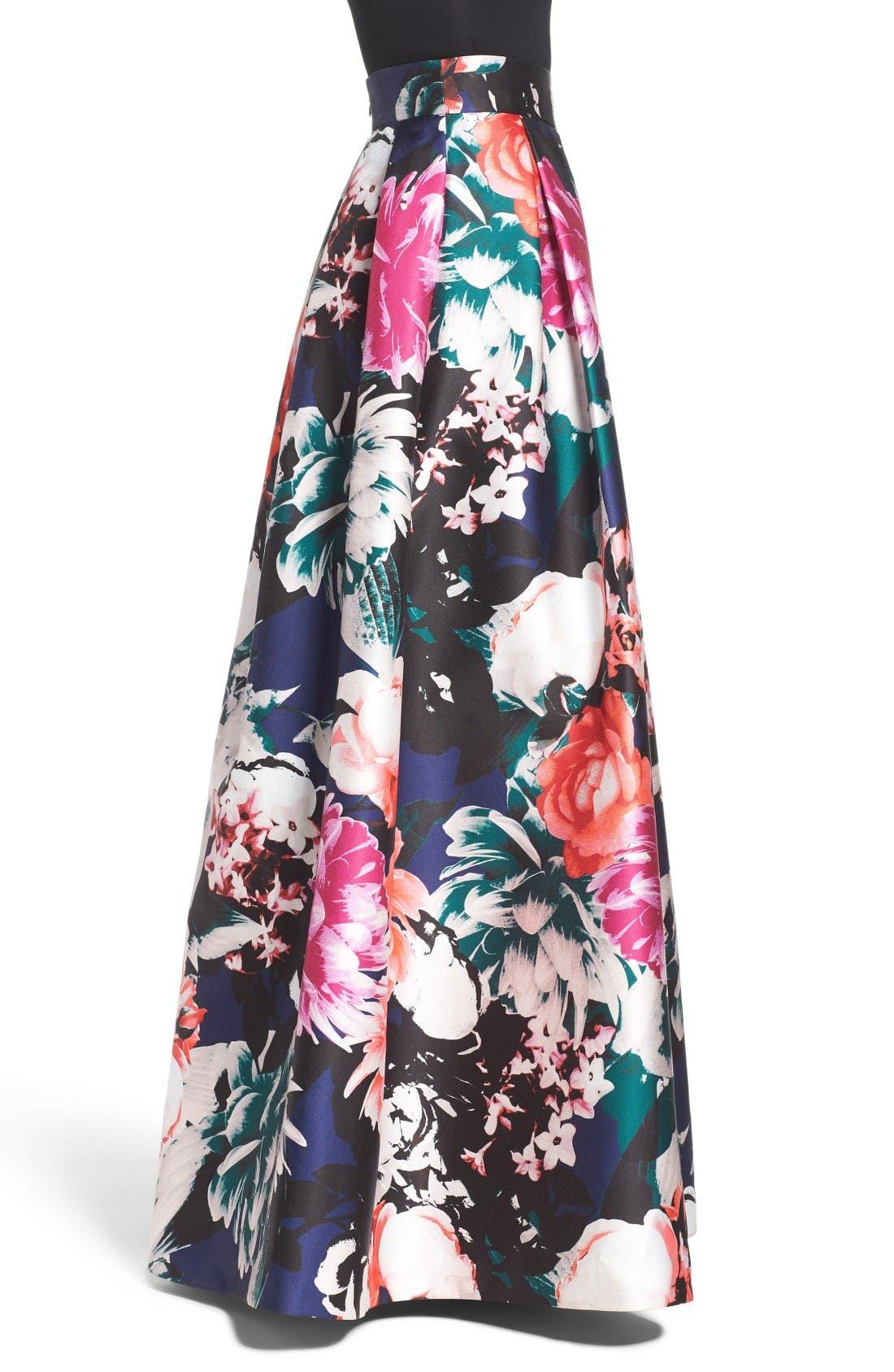 Alternate Image 3  - Eliza J Floral Ball Skirt