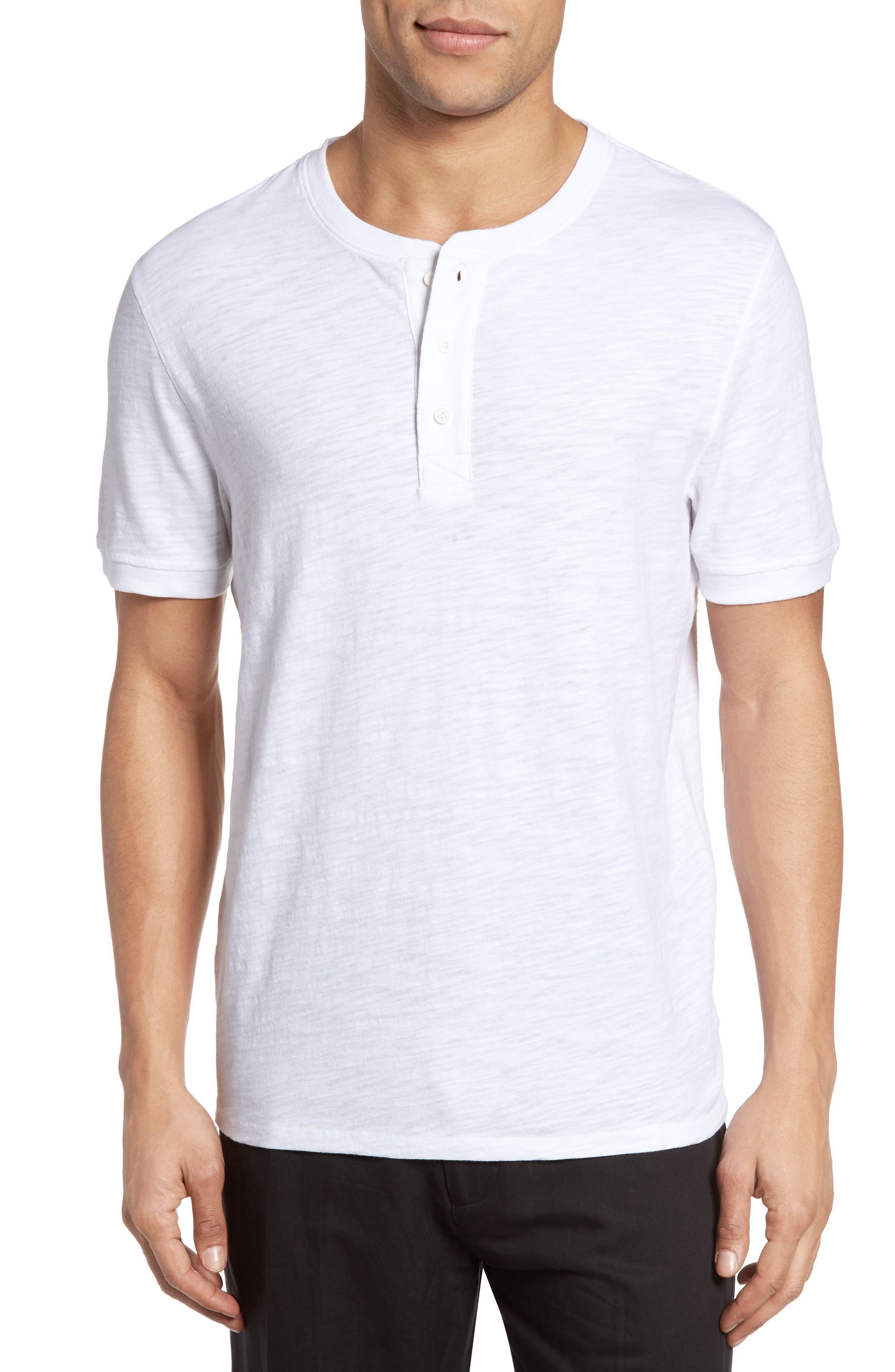 Slub Henley,                         Main,                         color, White