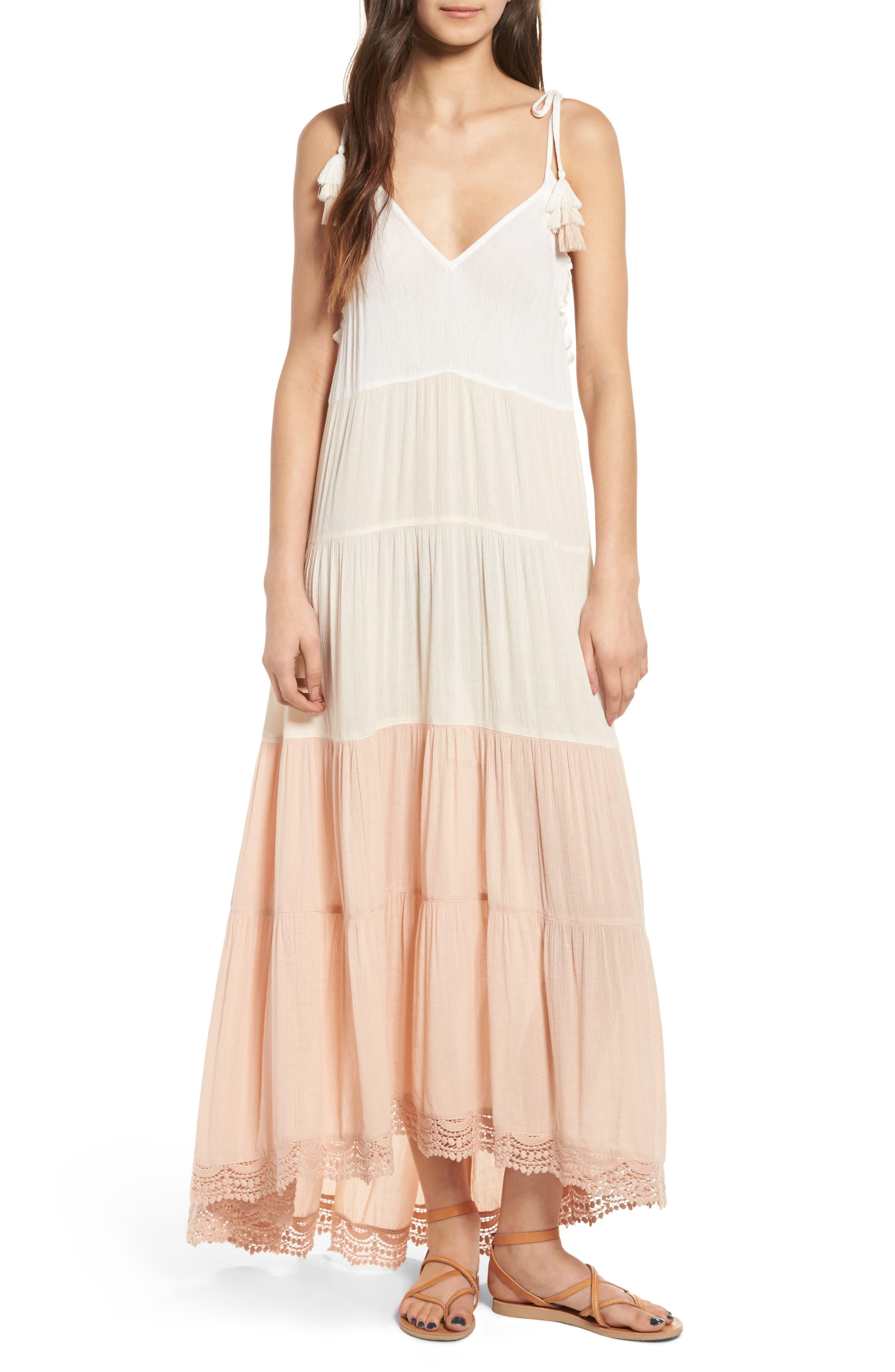 Alternate Image 1 Selected - Sun & Shadow Colorblock Maxi Dress