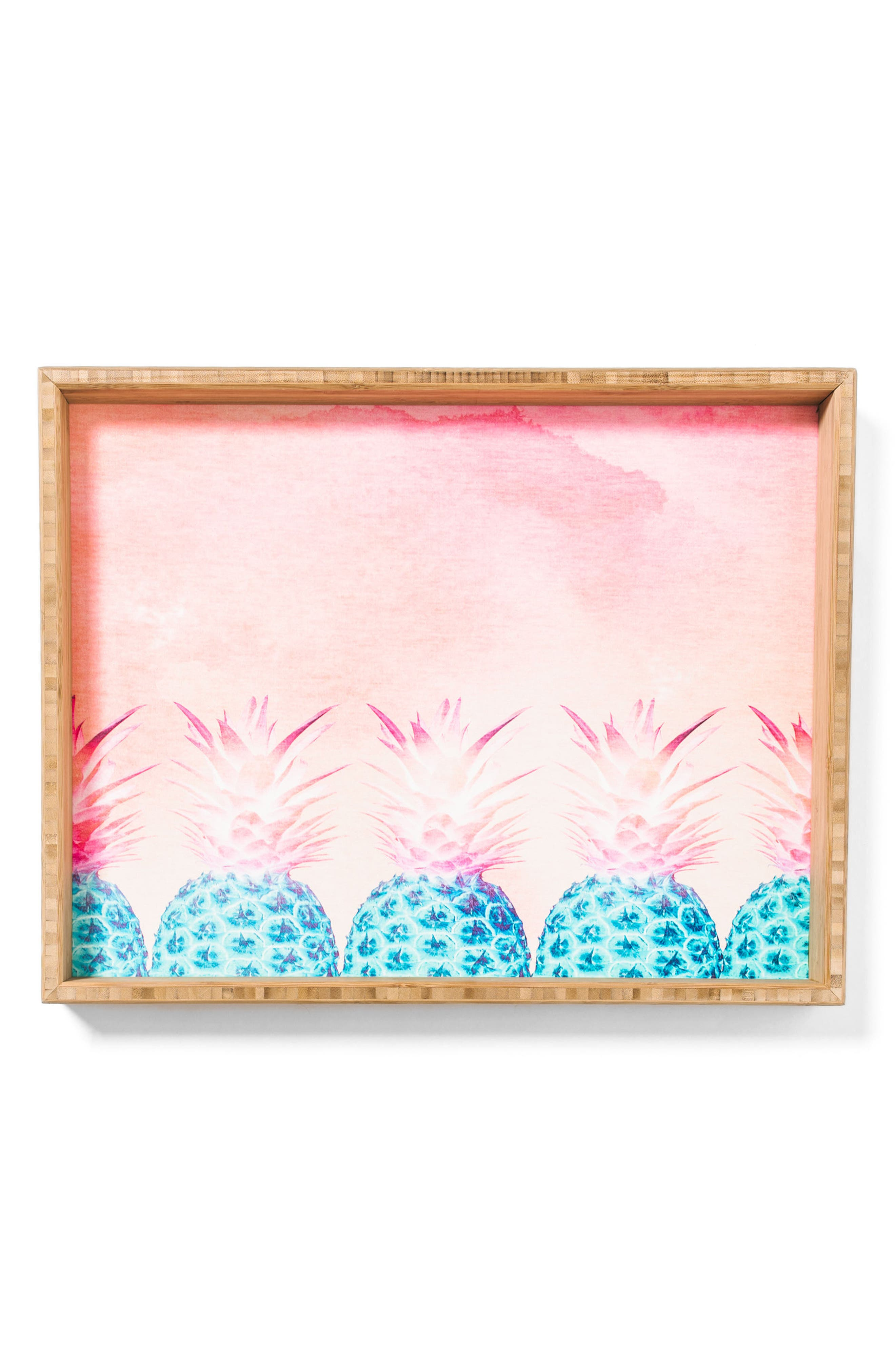 Pineapple Farm Serving Tray,                             Alternate thumbnail 4, color,                             Pink