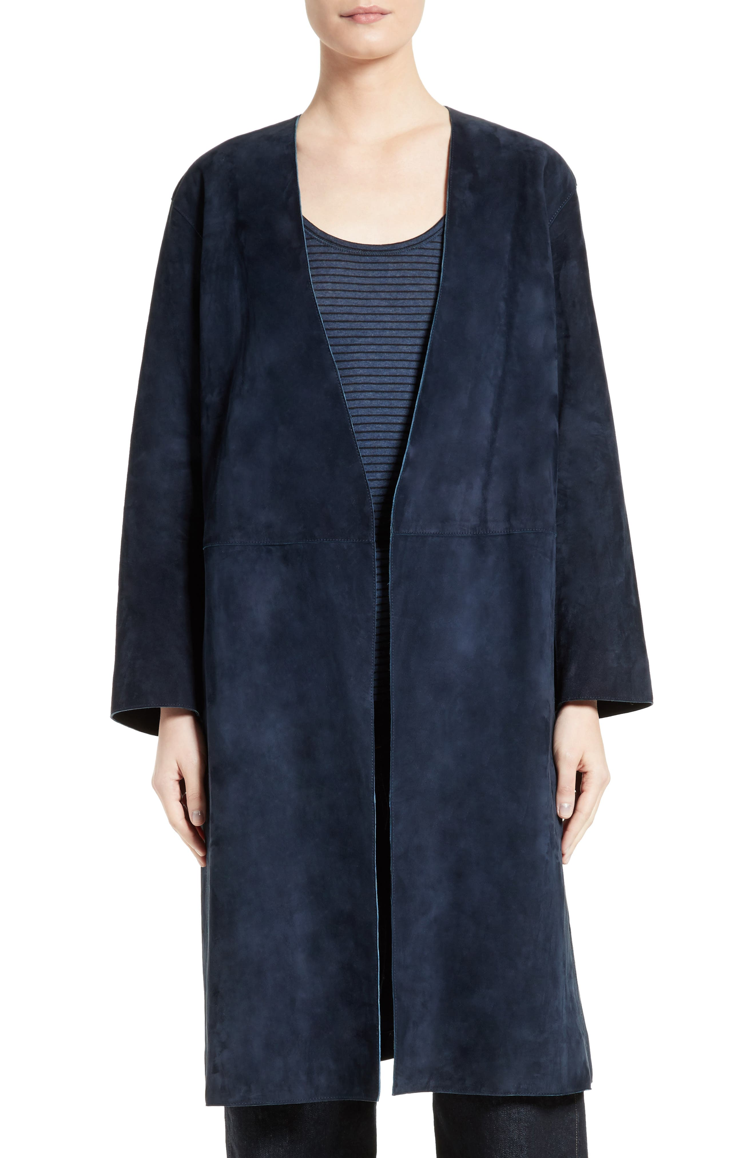 Alternate Image 1 Selected - Vince Suede Robe Coat