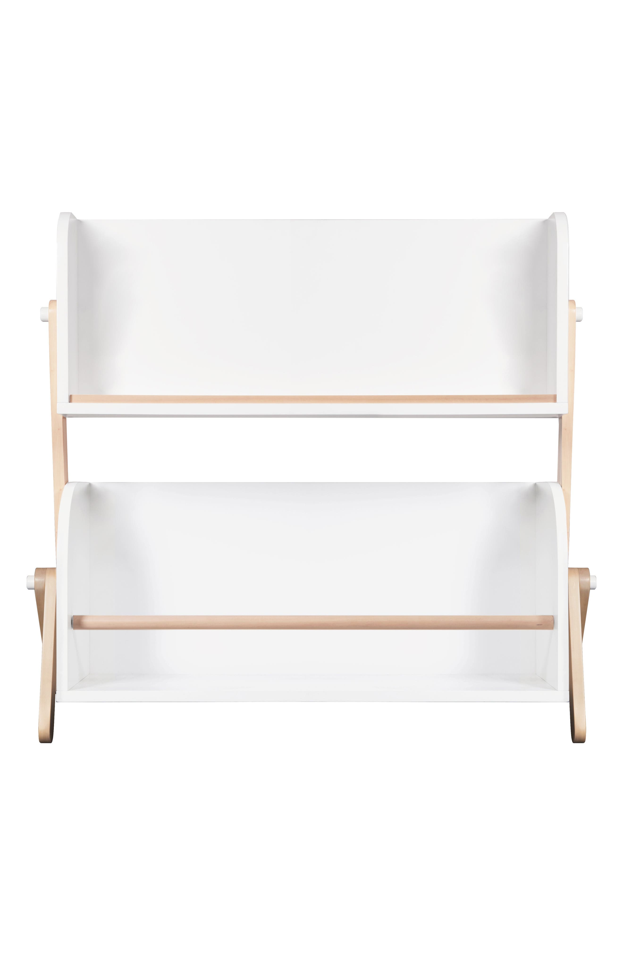 Tally Storage Bookshelf,                         Main,                         color, White/ Natural