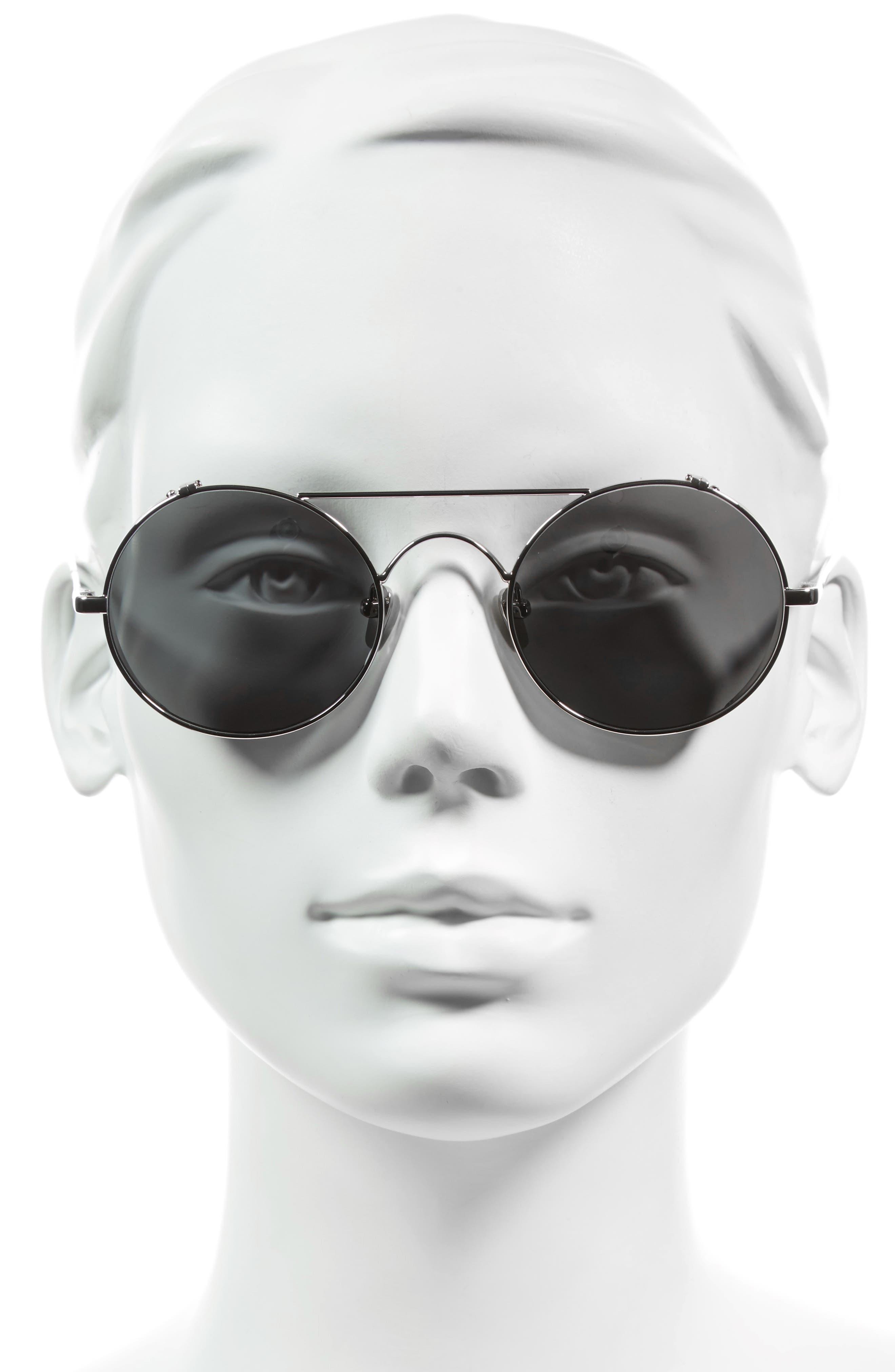 Alternate Image 2  - Linda Farrow 51mm Oval Sunglasses