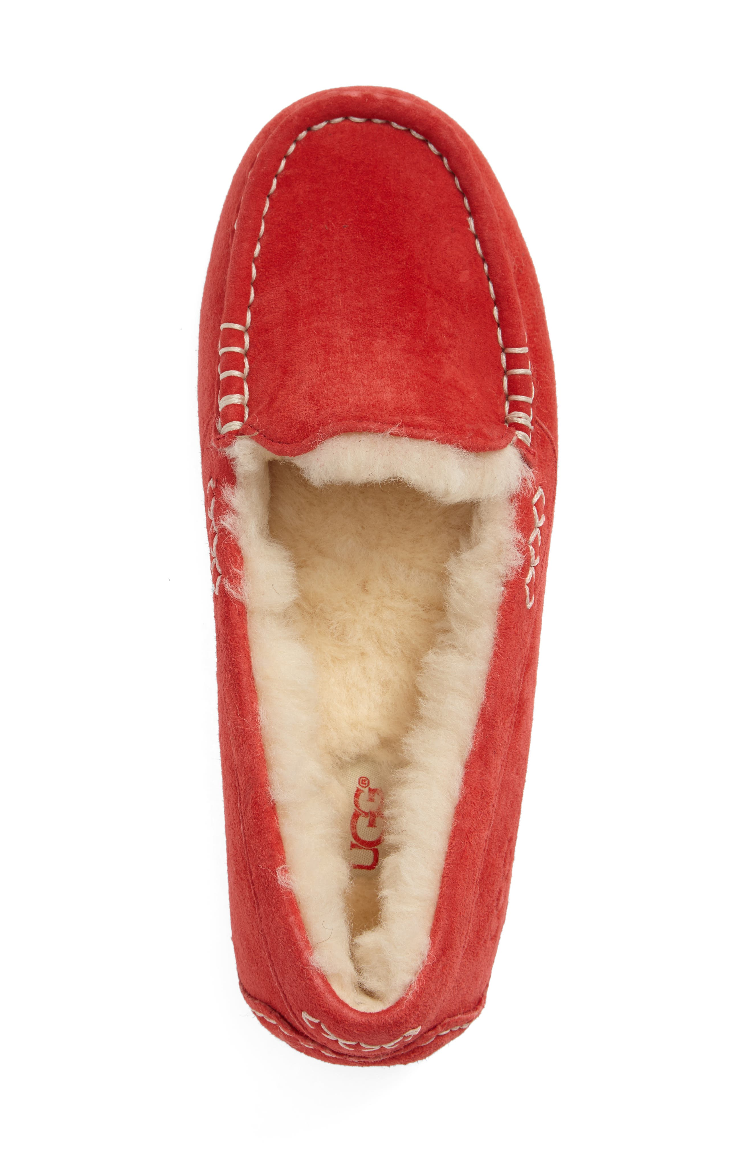 Ansley Water Resistant Slipper,                             Alternate thumbnail 3, color,                             Tango Suede