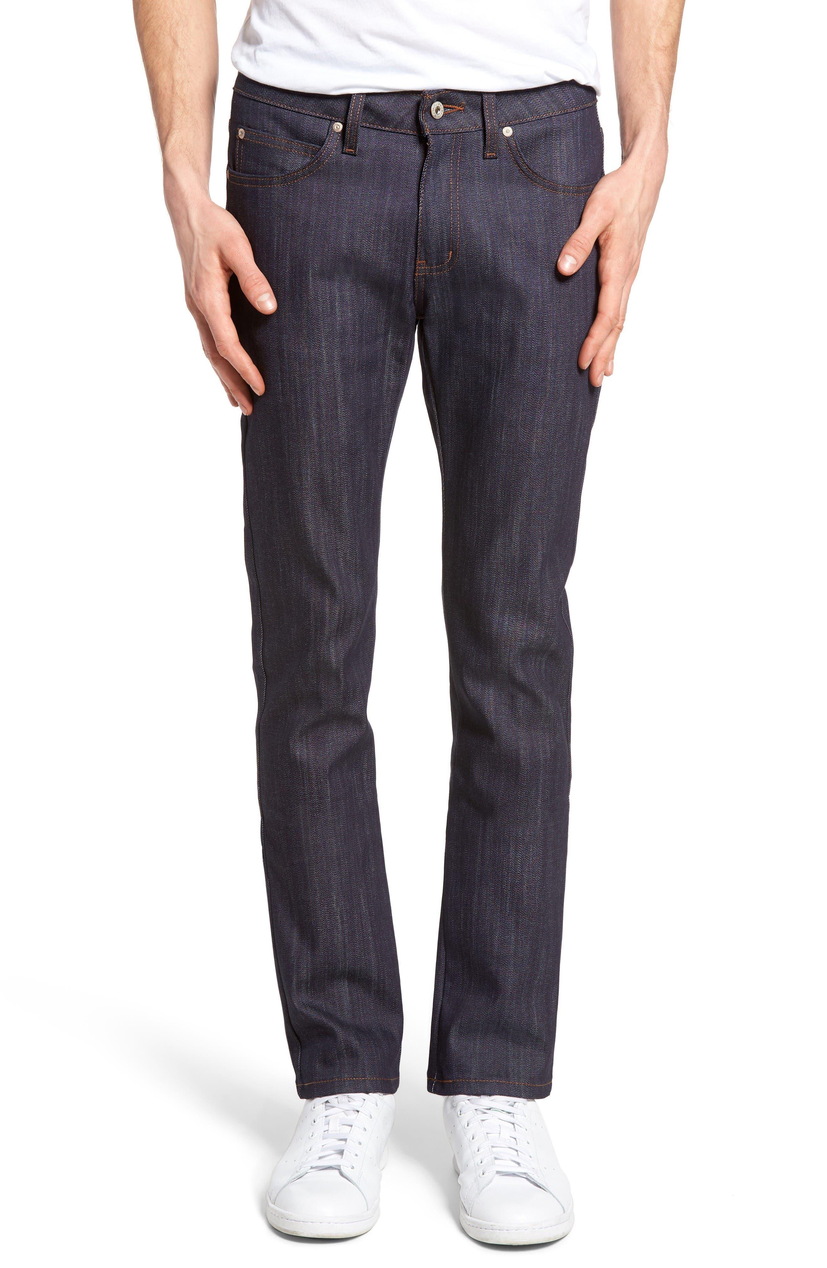 Naked & Famous Denim Skinny Guy Skinny Fit Power Stretch Jeans (Indigo)