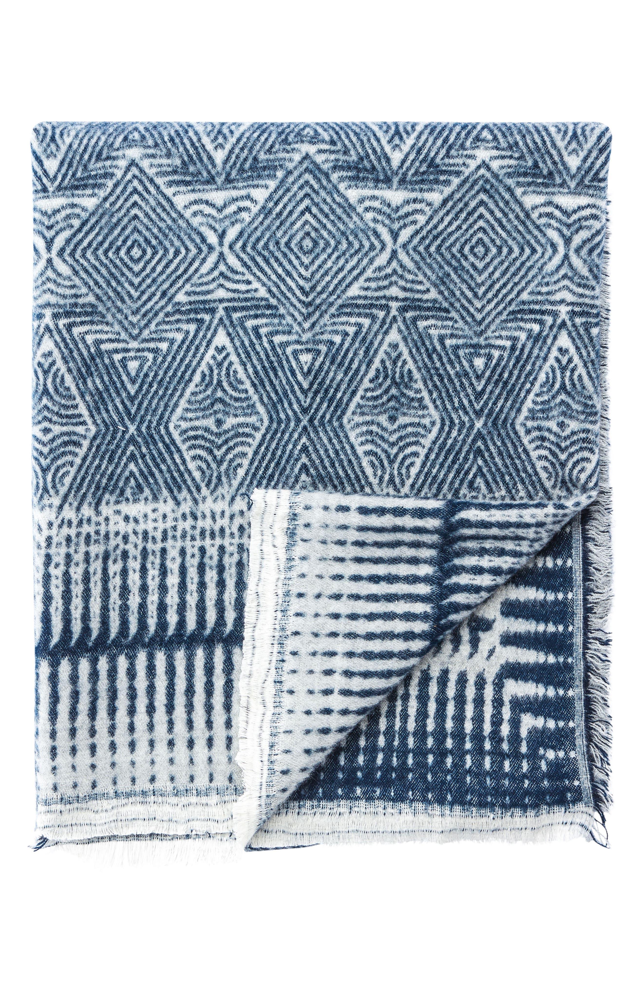 Hamlin Throw Blanket,                         Main,                         color, Blue