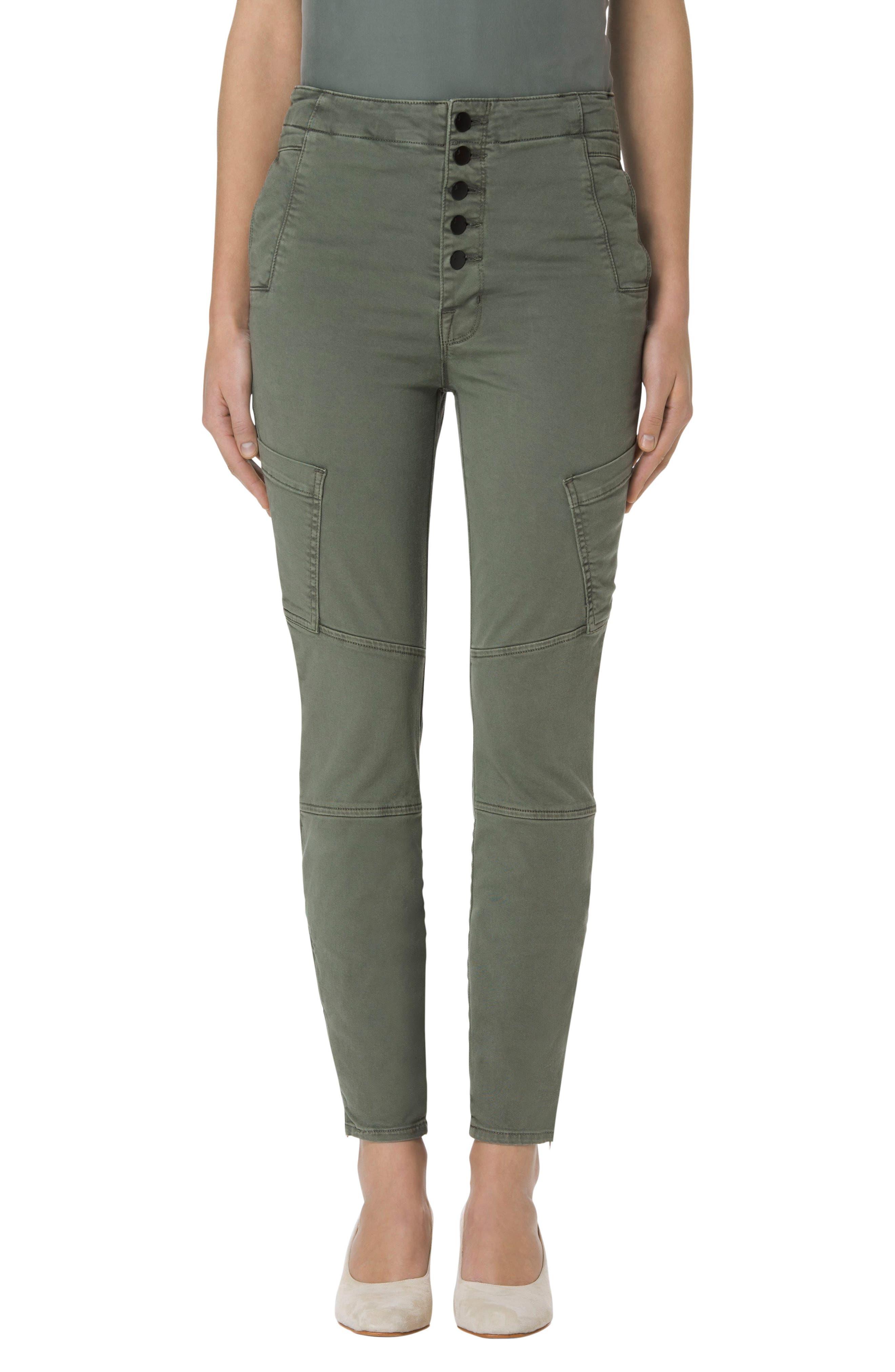 Alternate Image 1 Selected - J Brand Brigitte Sky High Crop Utility Pants