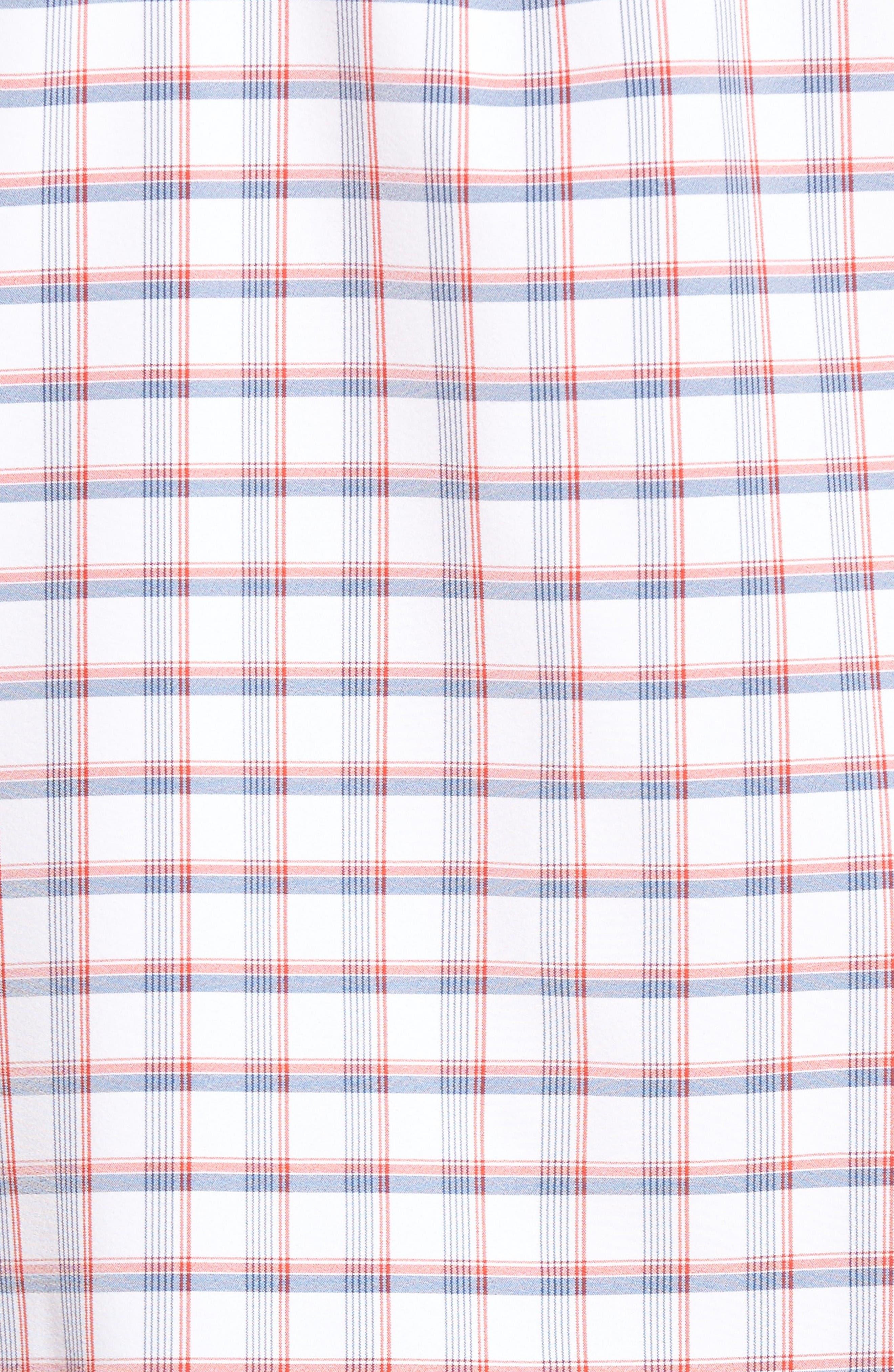 Alternate Image 5  - Mizzen+Main Sanford Slim Fit Plaid Performance Sport Shirt
