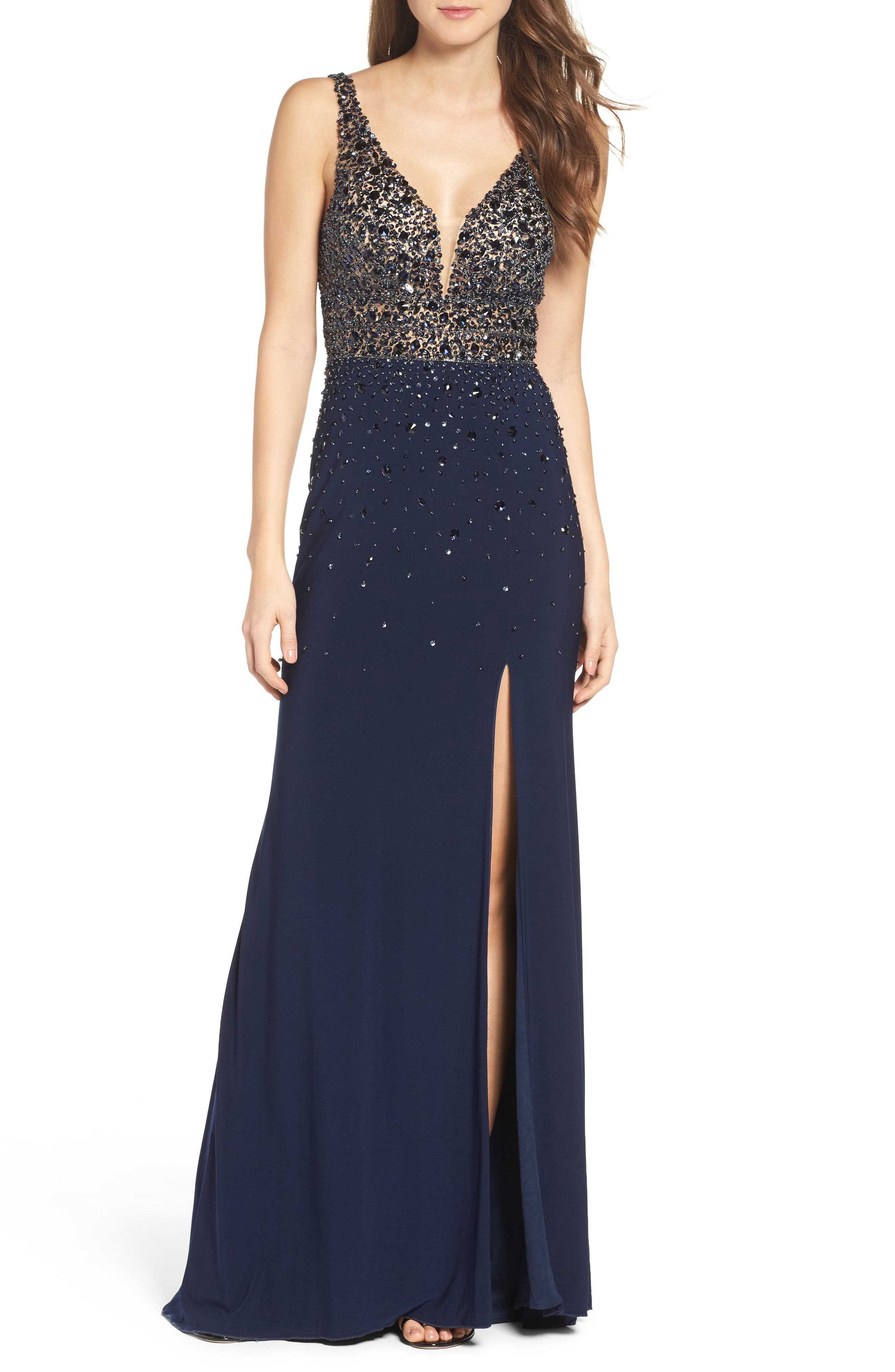 Alternate Image 1 Selected - Sean Collection Embellished Sleeveless Gown