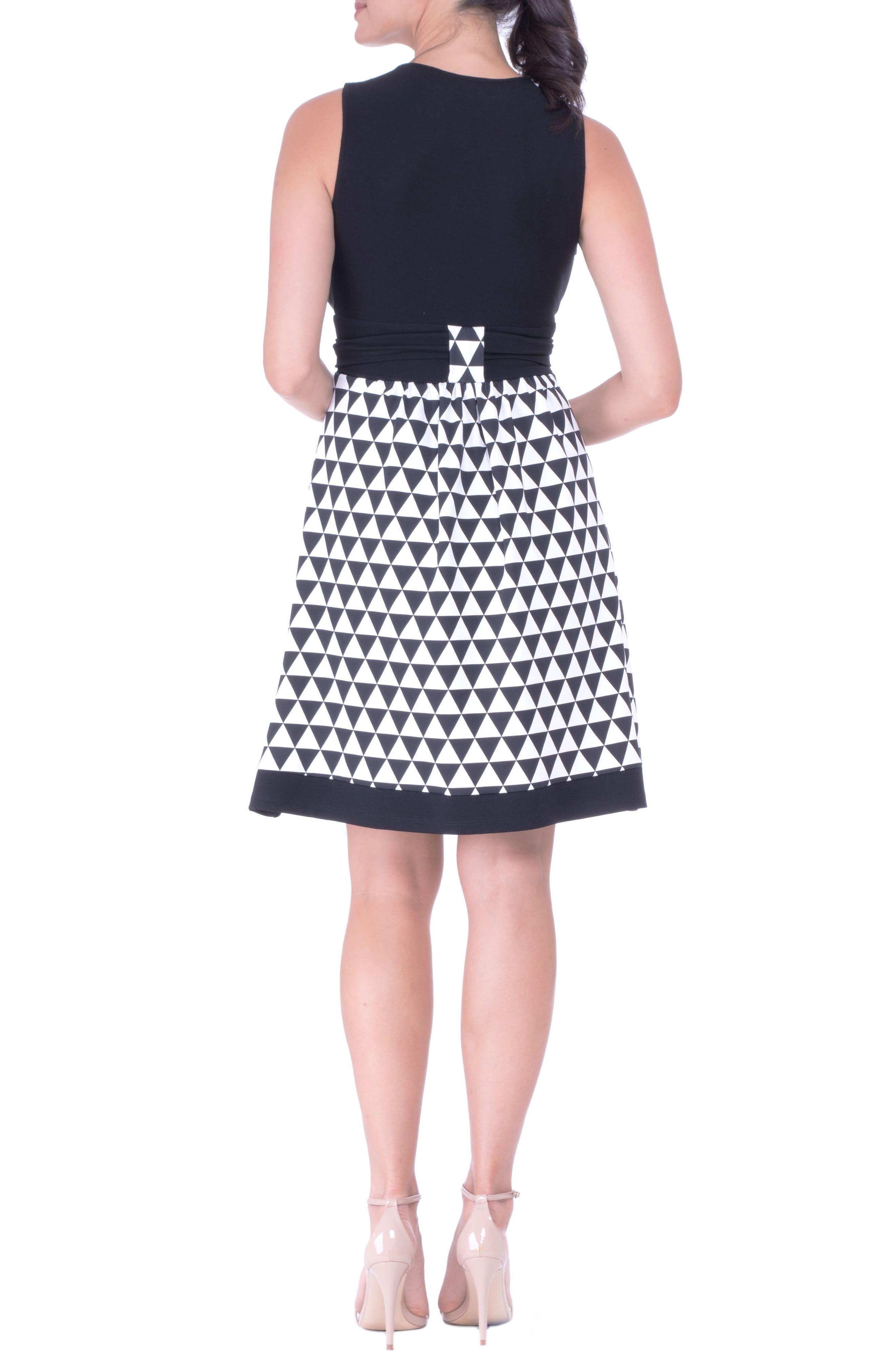 Alternate Image 2  - Olian Diamond A-Line Maternity Dress with Surplice Bodice