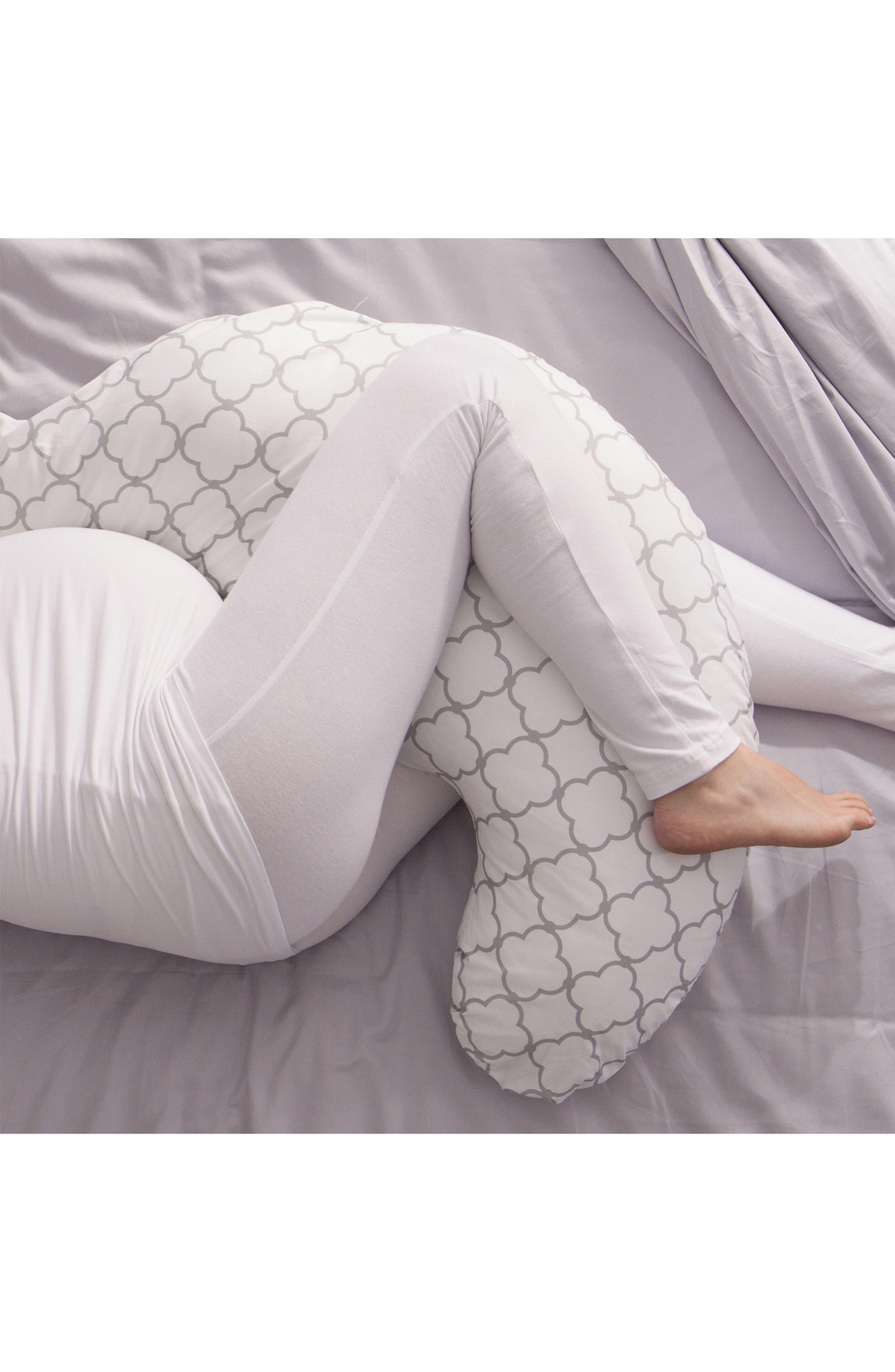Total Pregnancy Support Pillow,                             Alternate thumbnail 3, color,                             White Trellis
