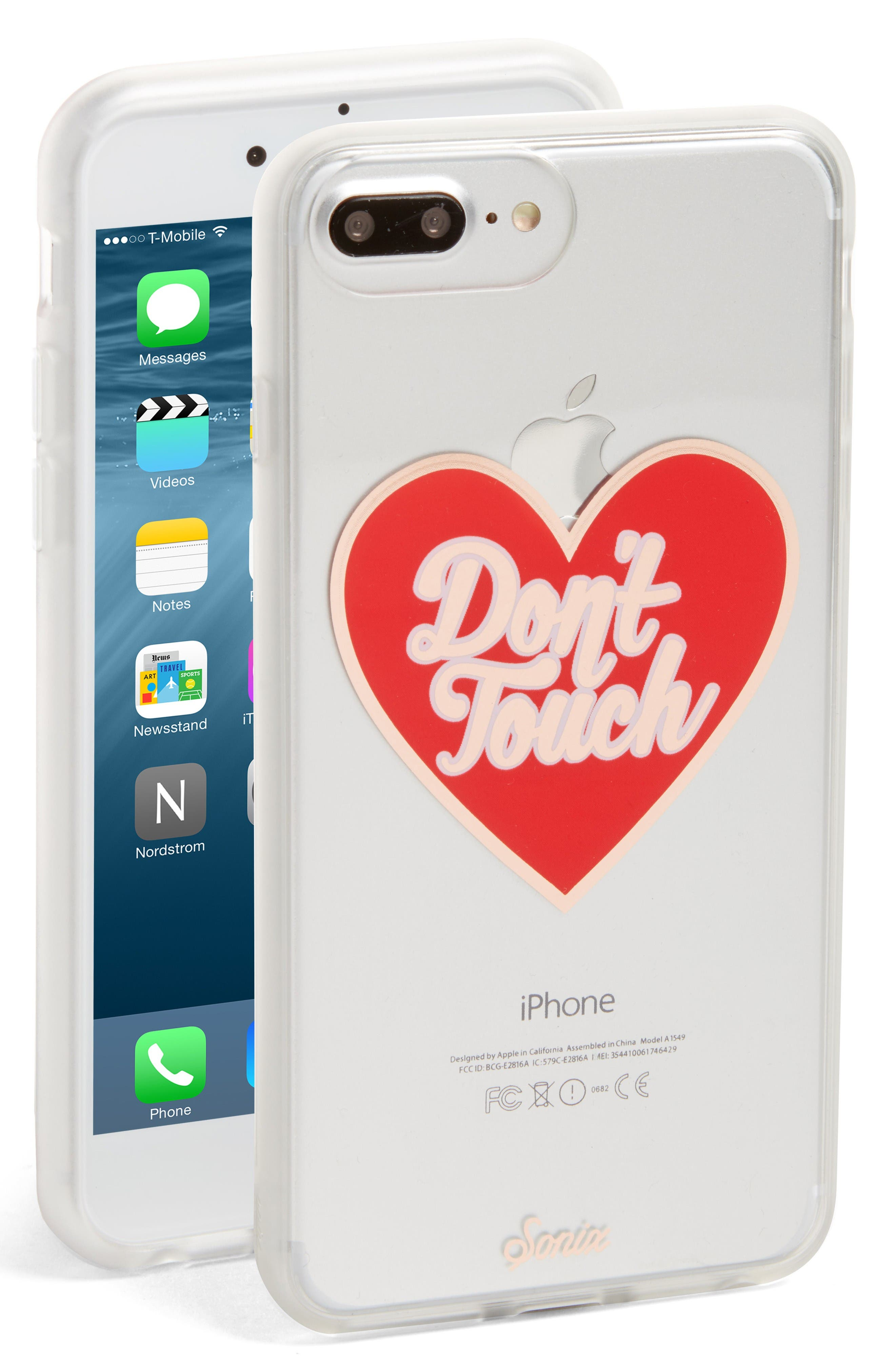 Don't Touch iPhone 6/6s/7/8 & 6/6s/7/8 Plus Case,                             Main thumbnail 1, color,                             Red