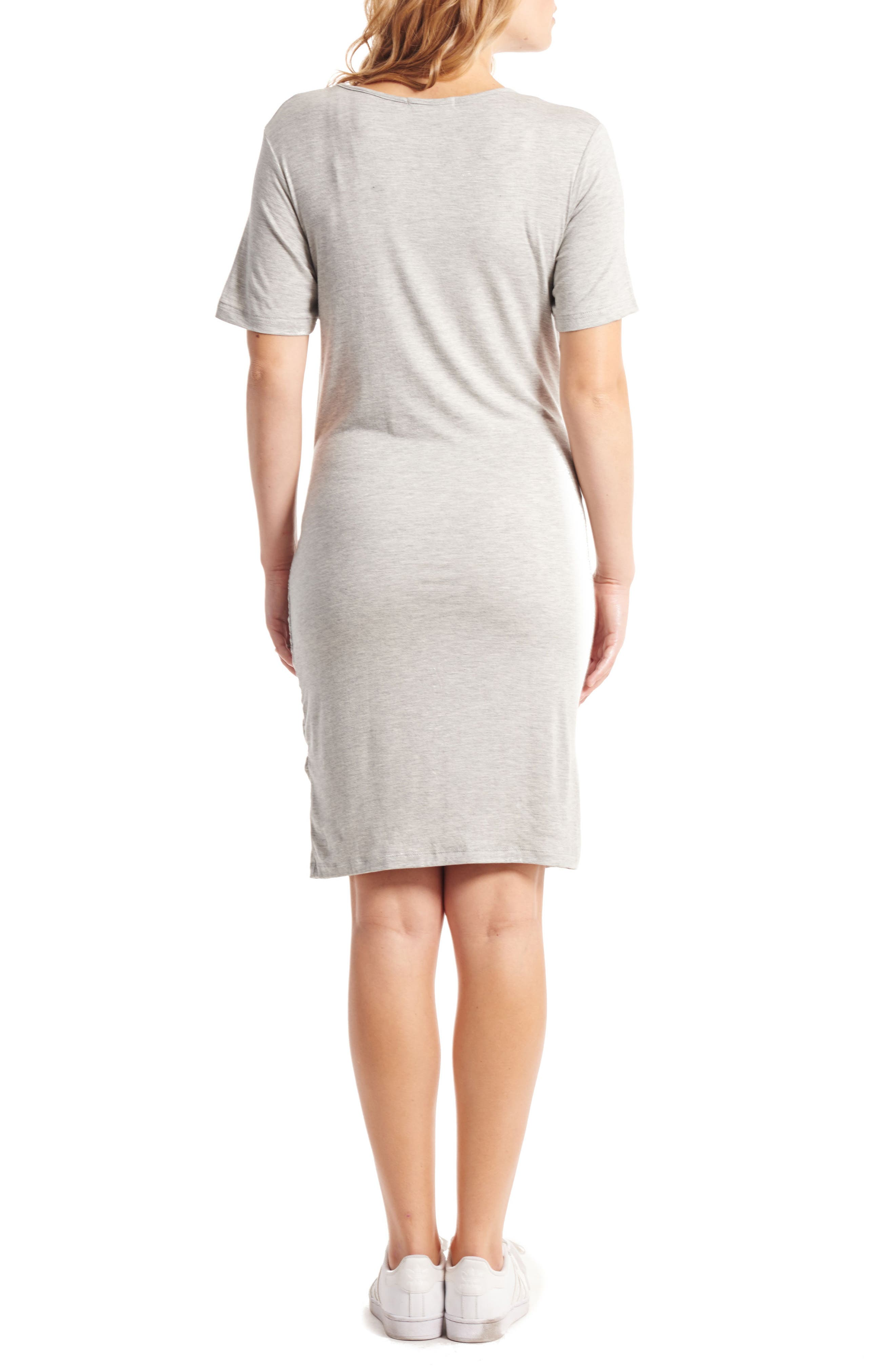 Alternate Image 2  - Everly Grey Maya Maternity/Nursing Tie Waist Dress