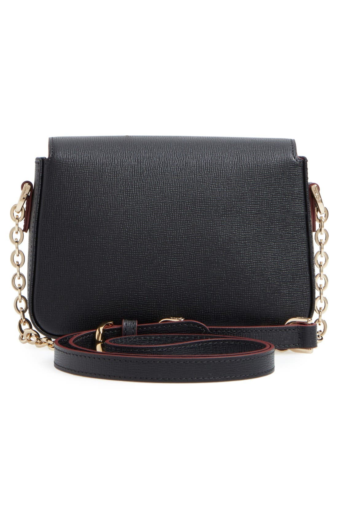 Small Le Pliage Heritage Leather Extra Small Crossbody Bag,                             Alternate thumbnail 2, color,                             Black