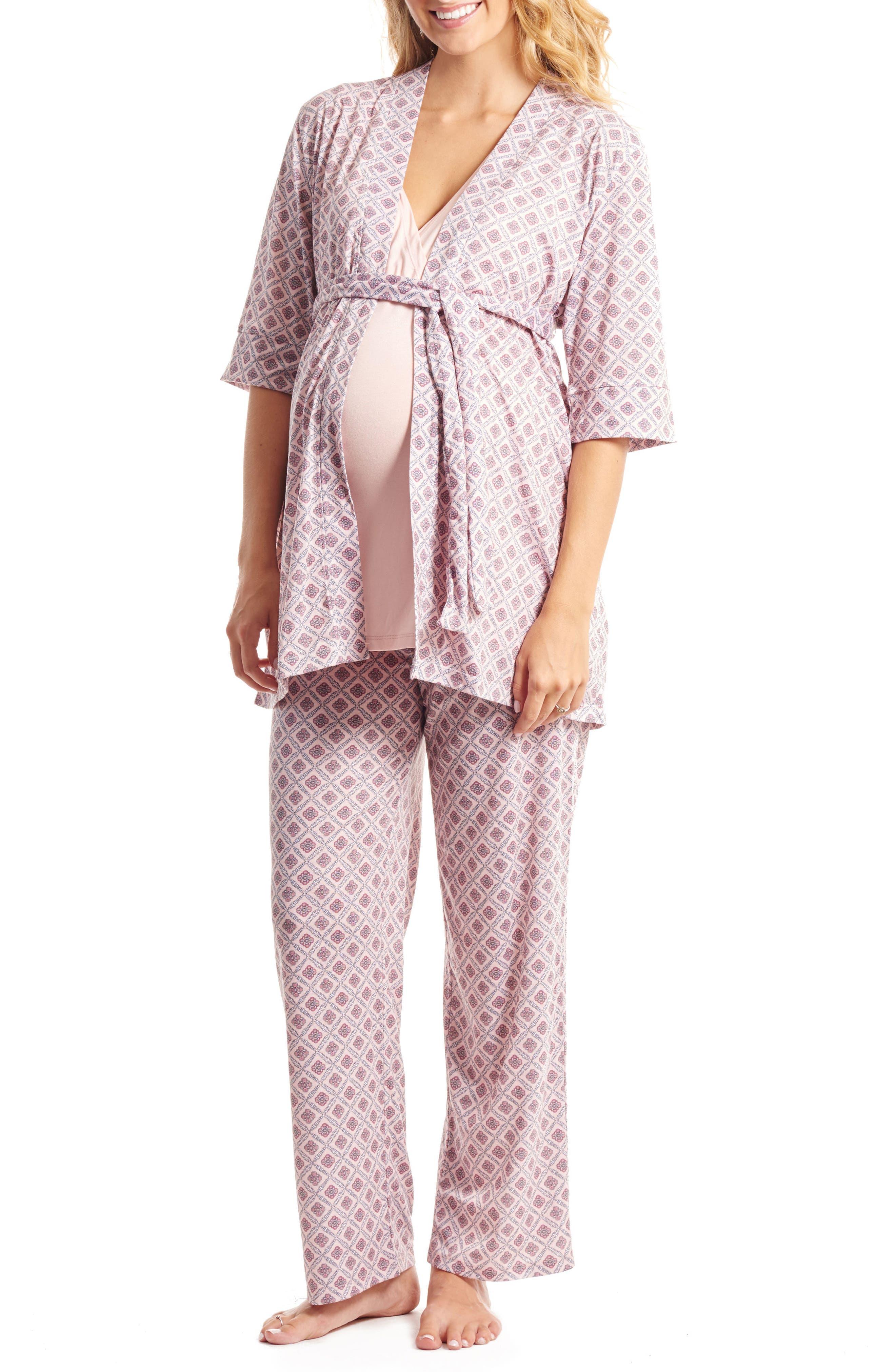 Everly Grey Susan 5-Piece Maternity/Nursing Pajama Set