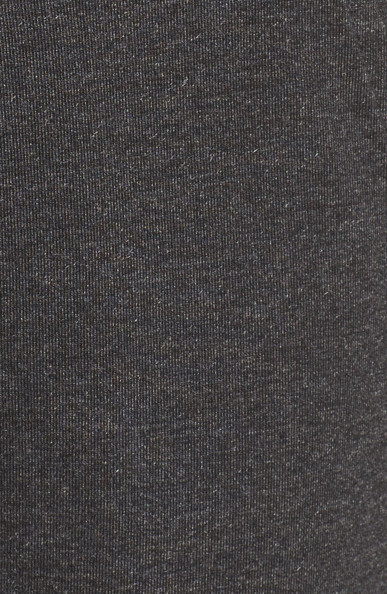 Harmony Crop Harem Pants,                             Alternate thumbnail 5, color,                             Grey Dark Charcoal Heather