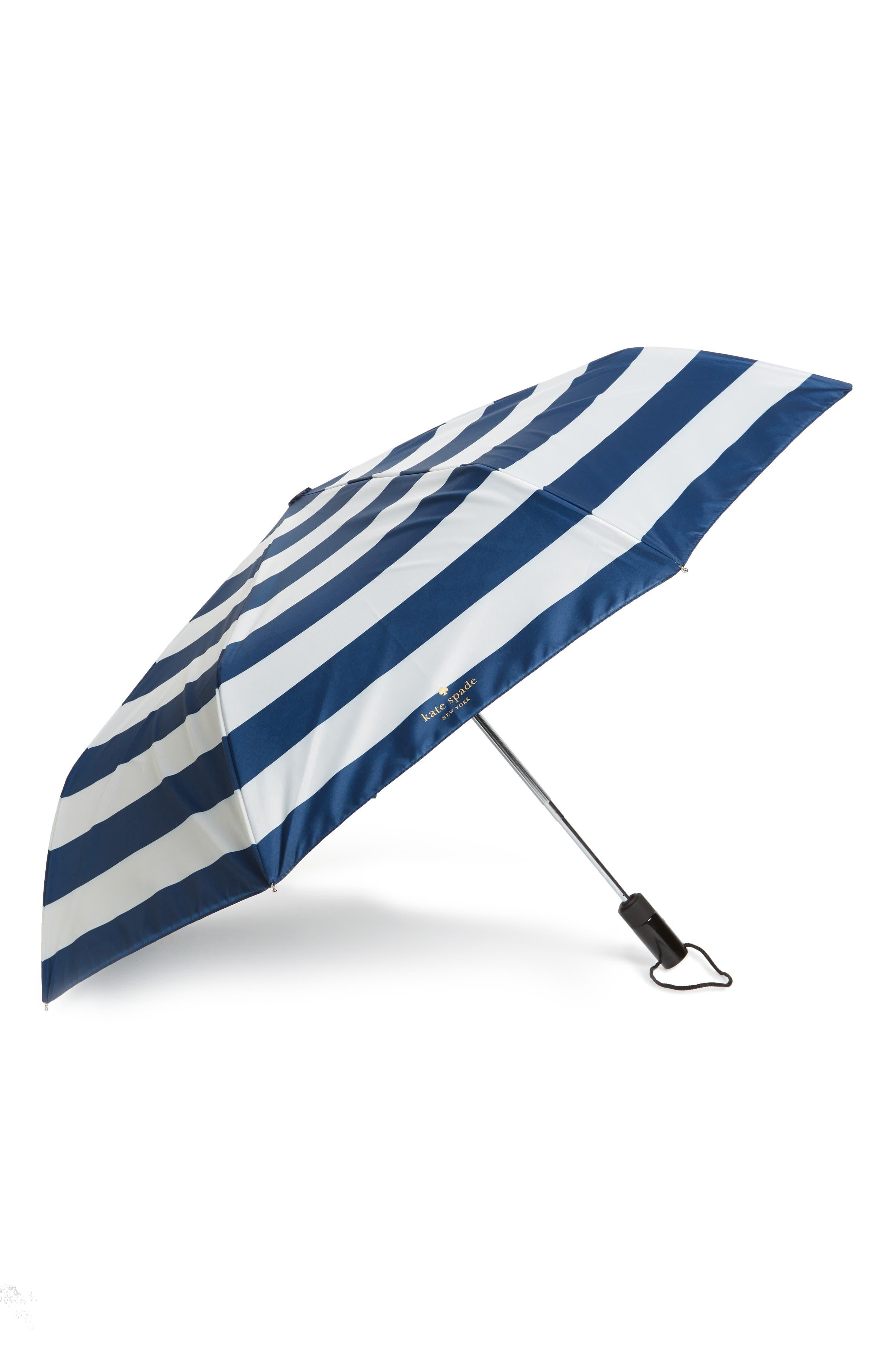 compact travel umbrella,                         Main,                         color, Jubilee Stripe