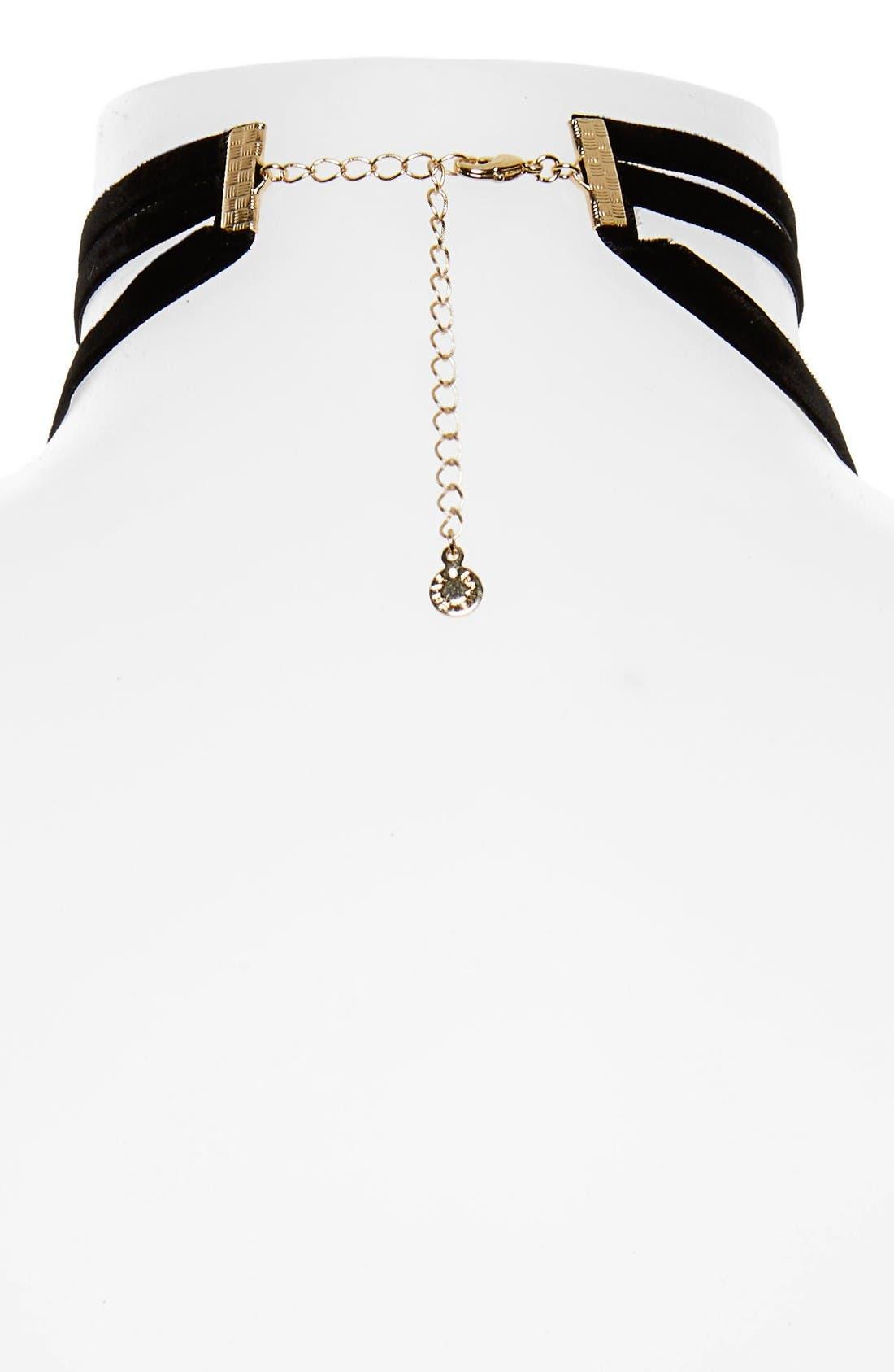 Alternate Image 2  - Baublebar Velvet Lariat Choker Necklace