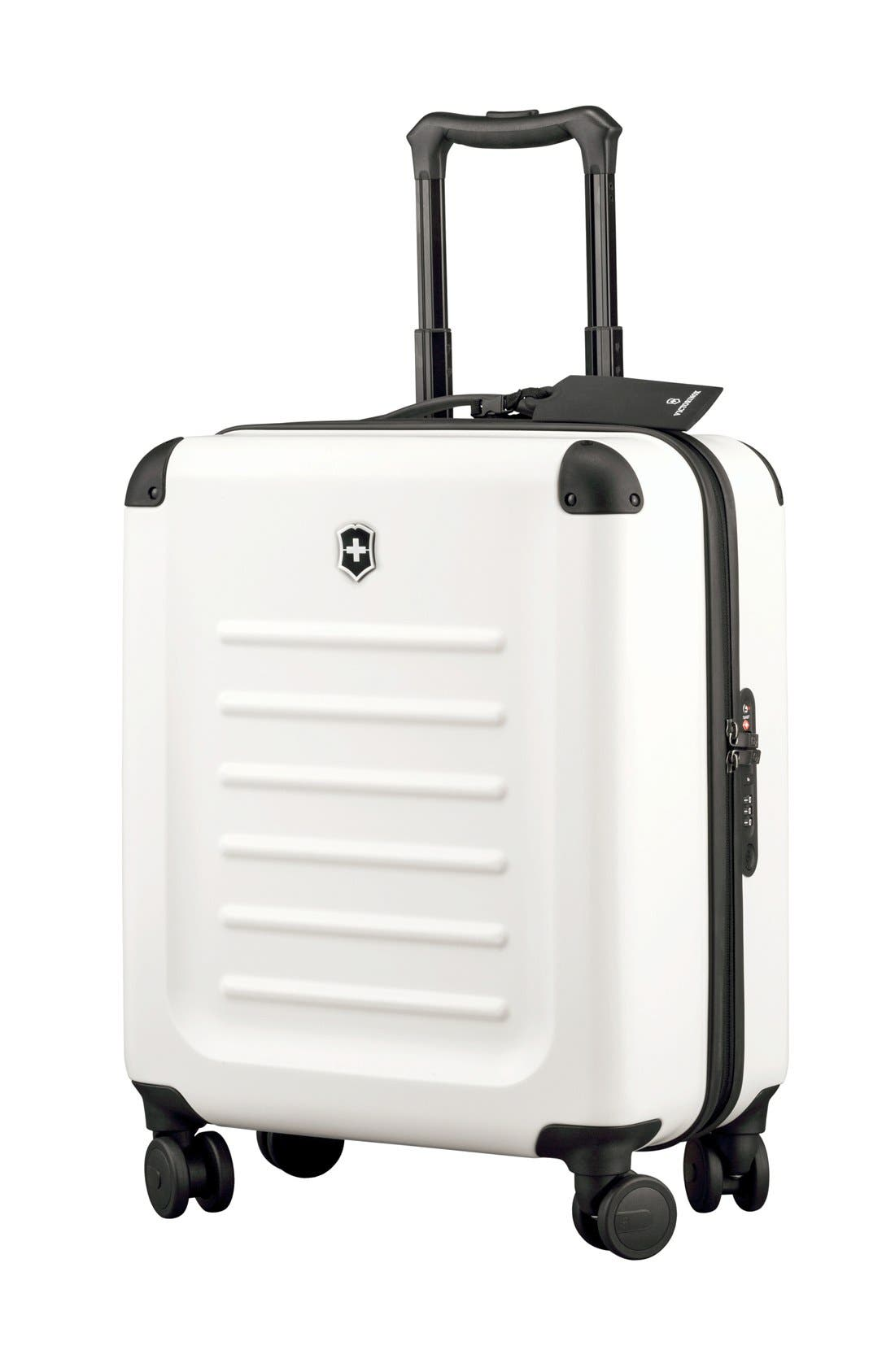 Spectra 2.0 Extra Capacity Hard Sided Rolling 22-Inch Carry-On,                         Main,                         color, White