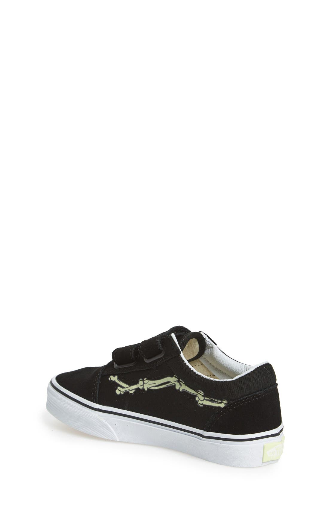 Old Skool Skate Sneaker,                             Alternate thumbnail 2, color,                             Glow Bones Black/ White