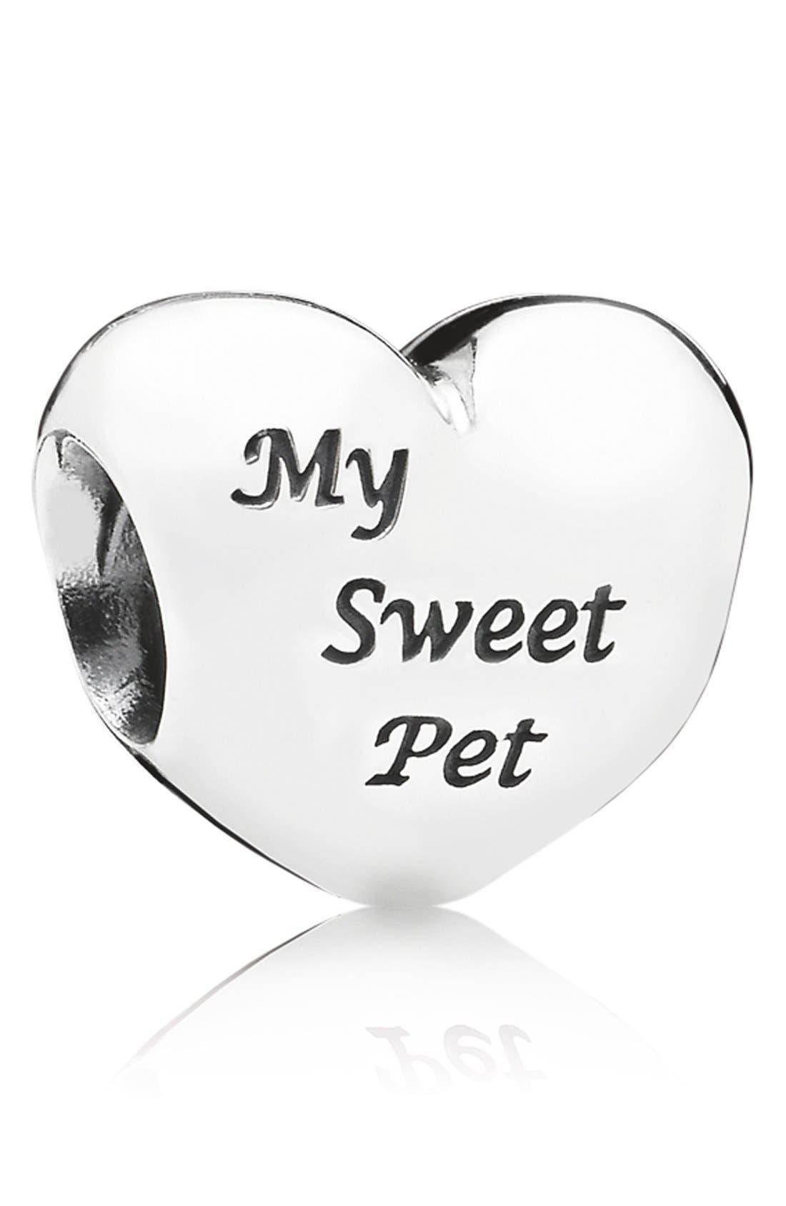 Alternate Image 1 Selected - PANDORA 'My Sweet Pet' Heart Bead Charm