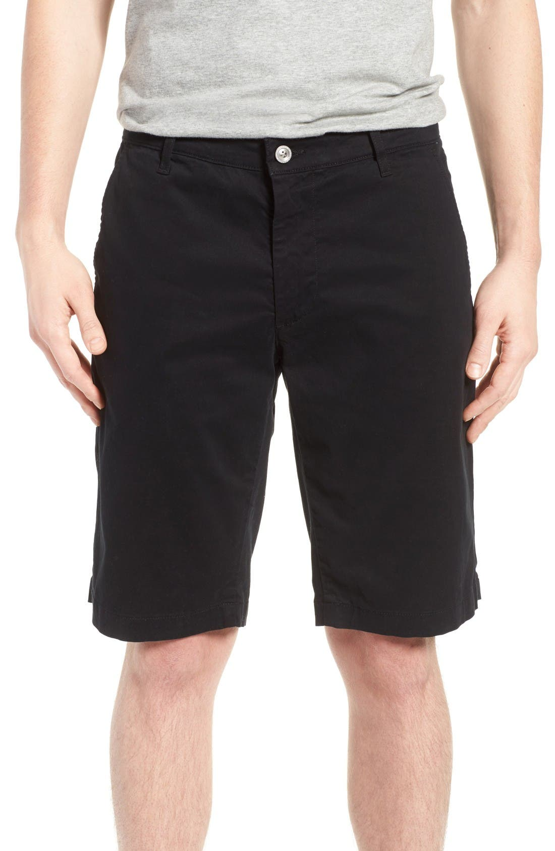 'Griffin' Chino Shorts,                         Main,                         color, Sba Black