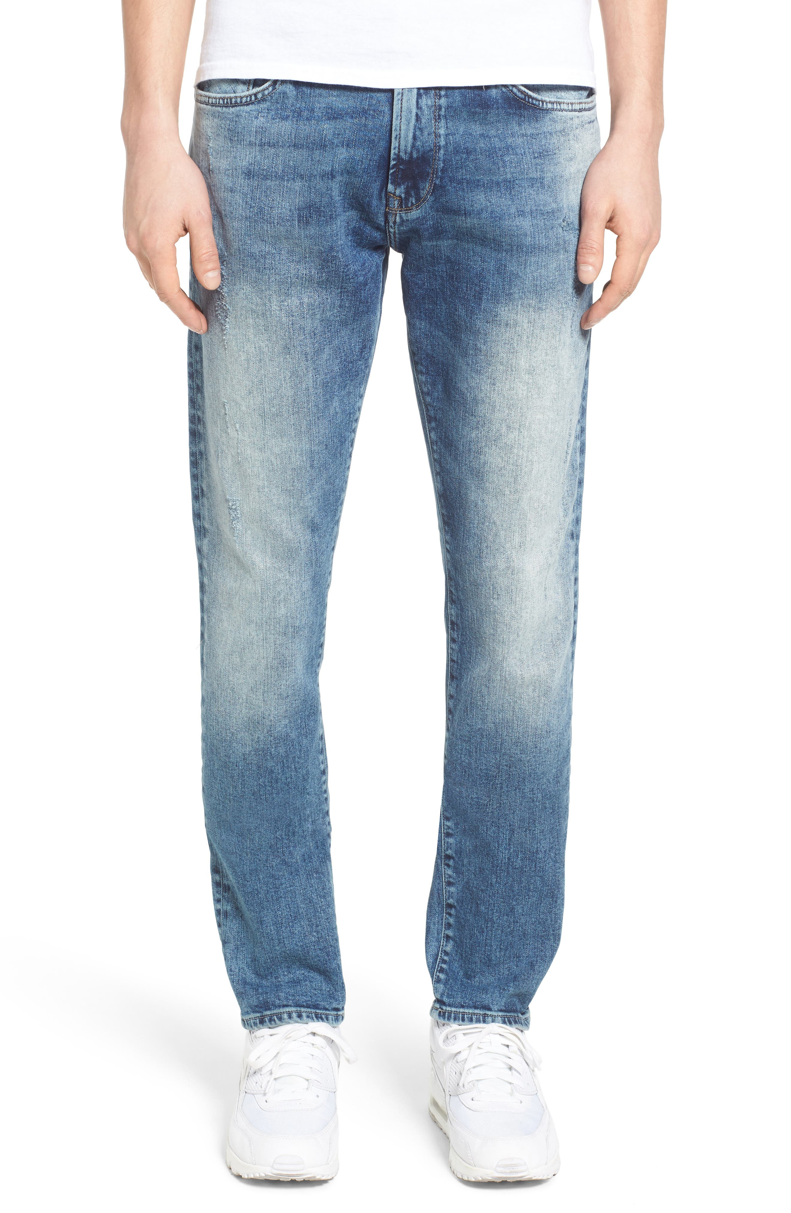 Mavi Jeans James Skinny Fit Jeans (Mid Patched Ripped)