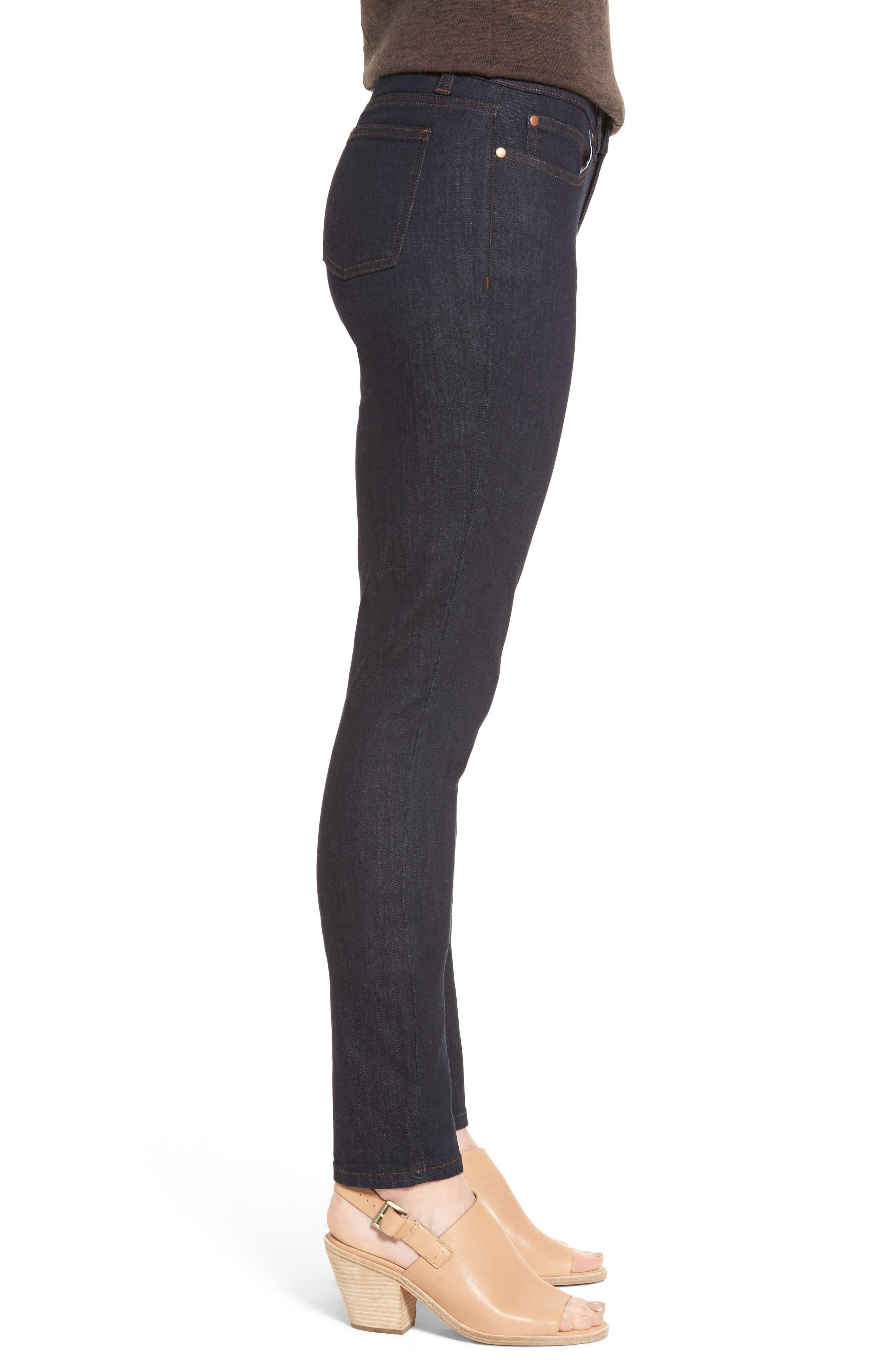 Alternate Image 3  - Eileen Fisher Stretch Skinny Jeans (Regular & Petite)