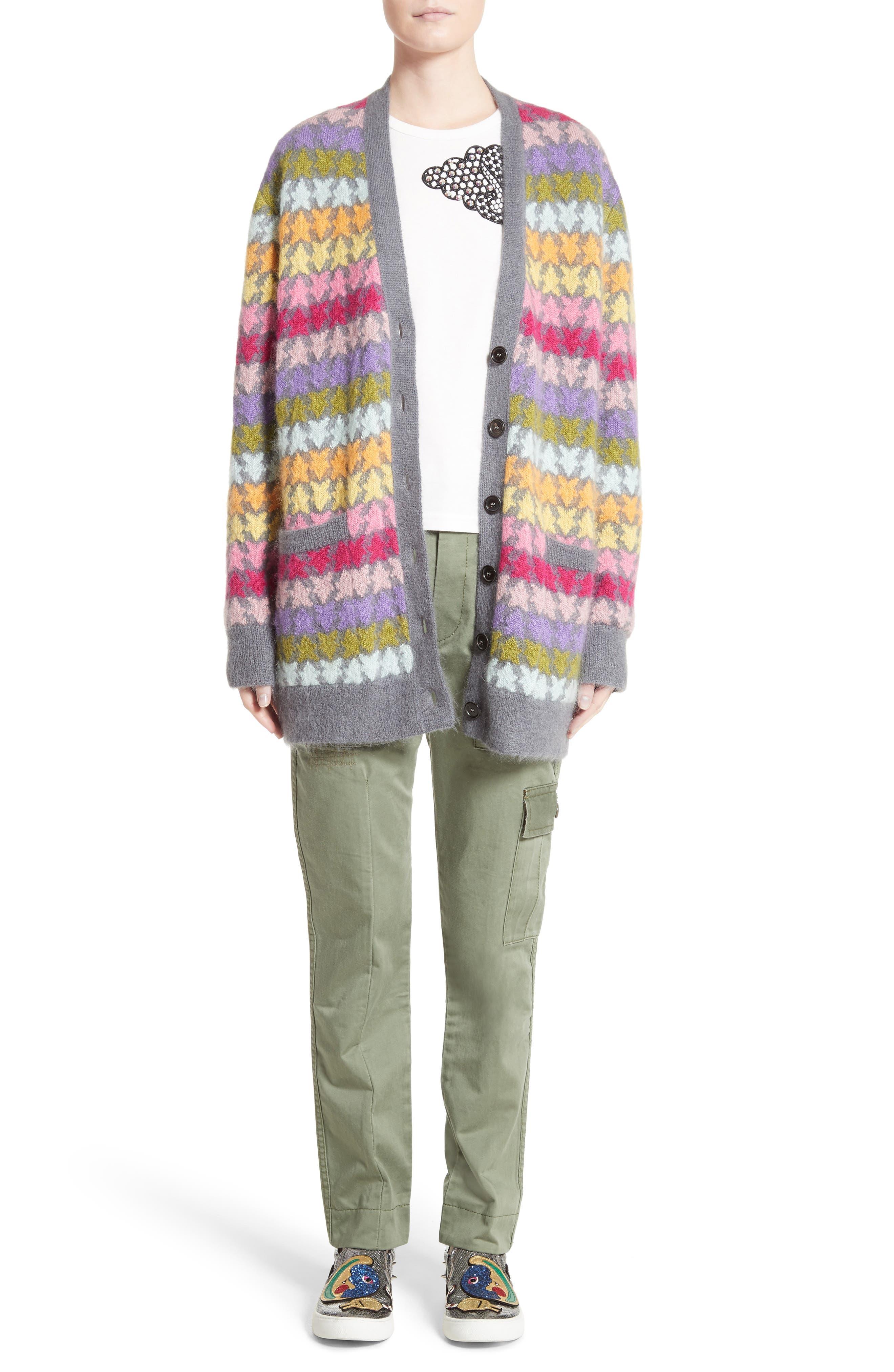 Alternate Image 7  - MARC JACOBS Star Knit Mohair Blend Cardigan