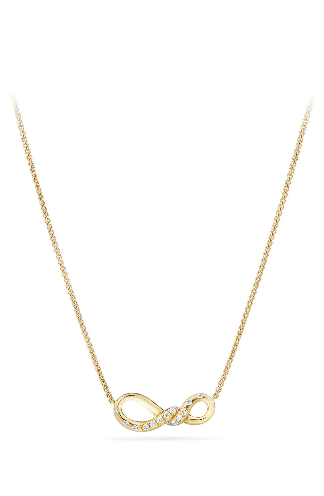 Alternate Image 1 Selected - David Yurman Continuance Pendant Necklace in 18K Gold with Diamonds