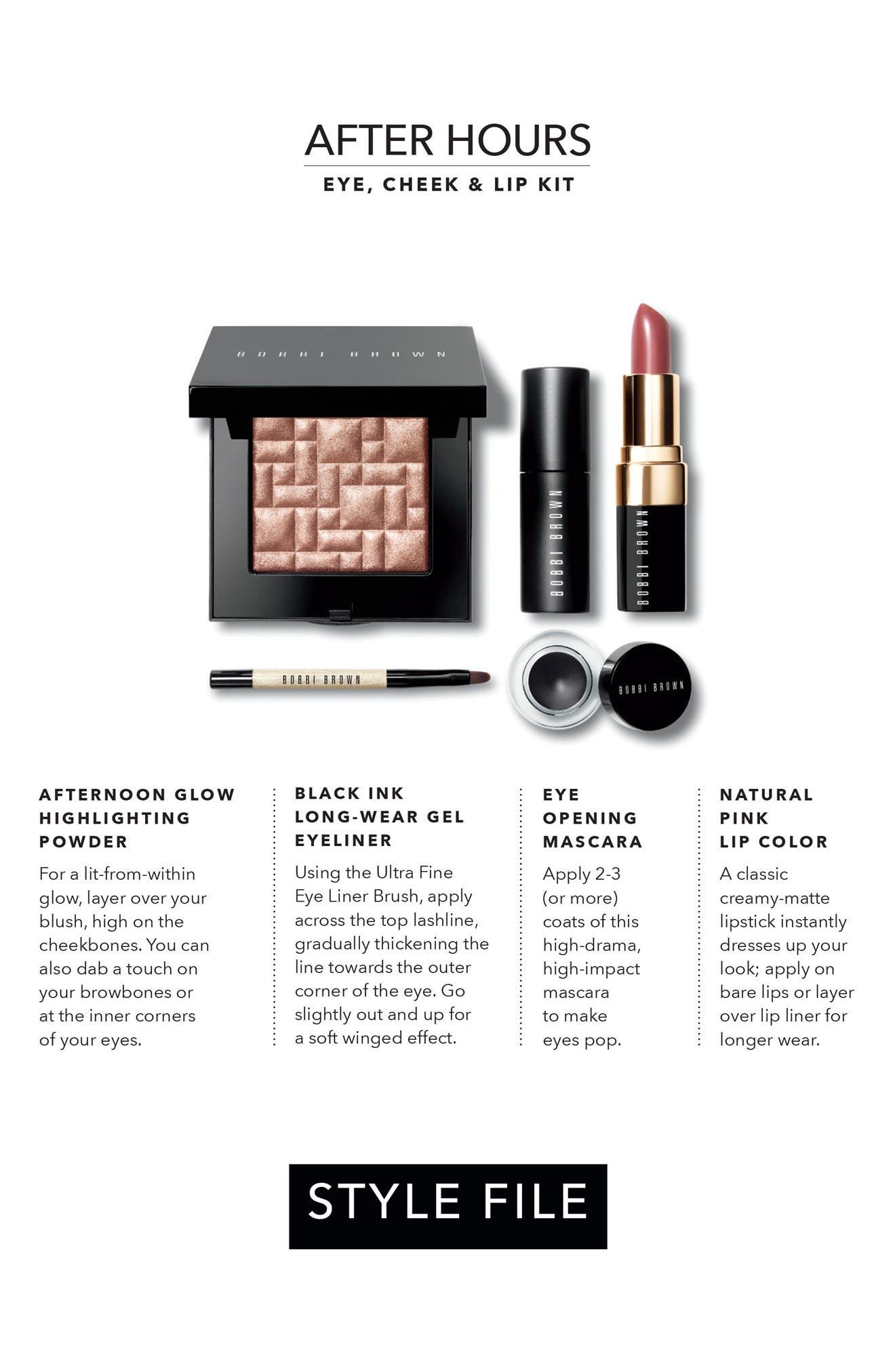Alternate Image 2  - Bobbi Brown Style File After Hours Eye, Cheek & Lip Kit (Nordstrom Exclusive) ($117 Value)