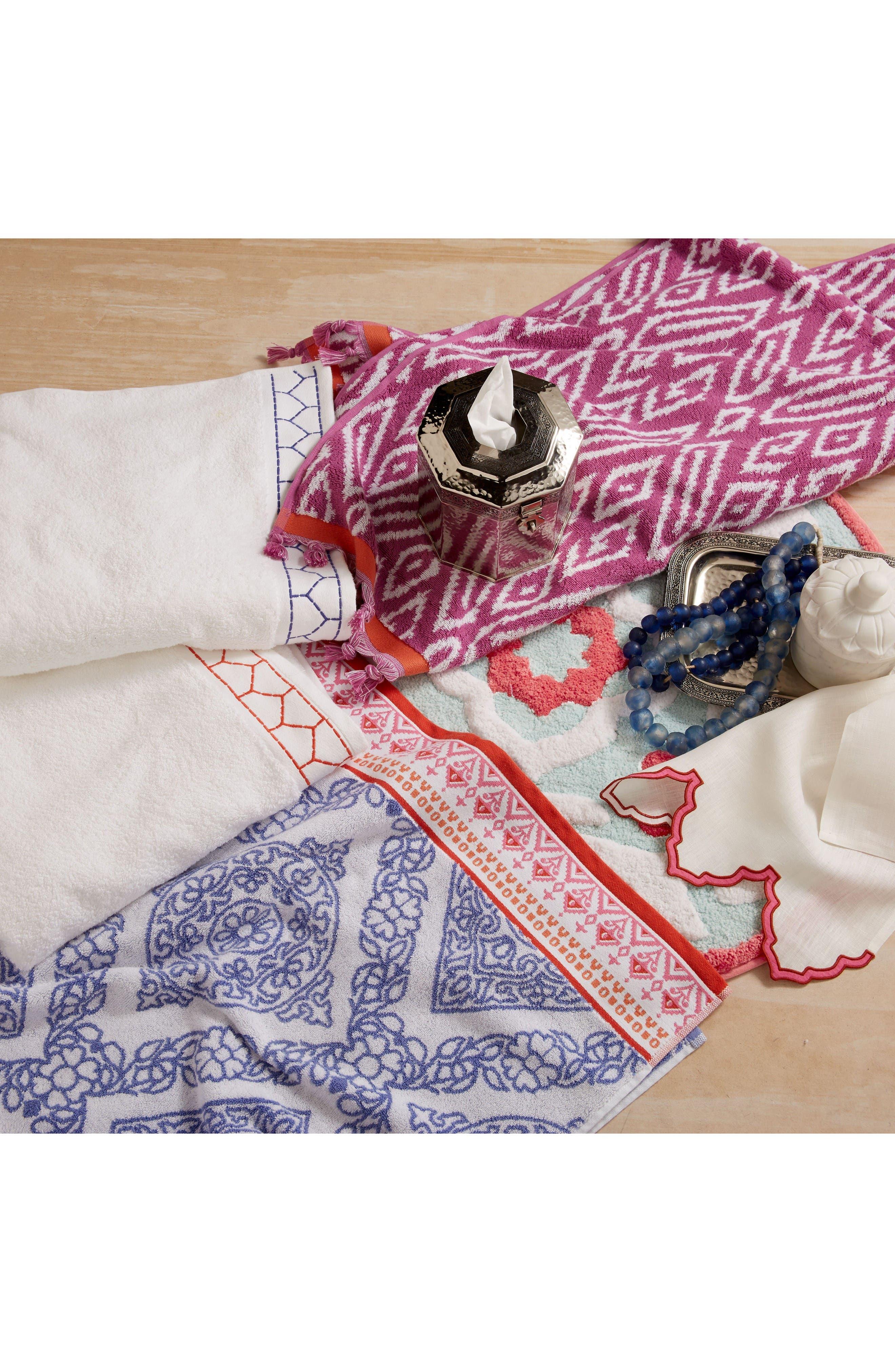 Mitta Bath Towel,                             Alternate thumbnail 3, color,                             Periwinkle