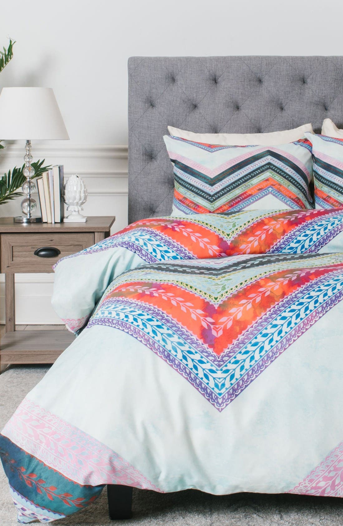 Alternate Image 1 Selected - Deny Designs Boho Chevron Duvet Cover & Sham Set