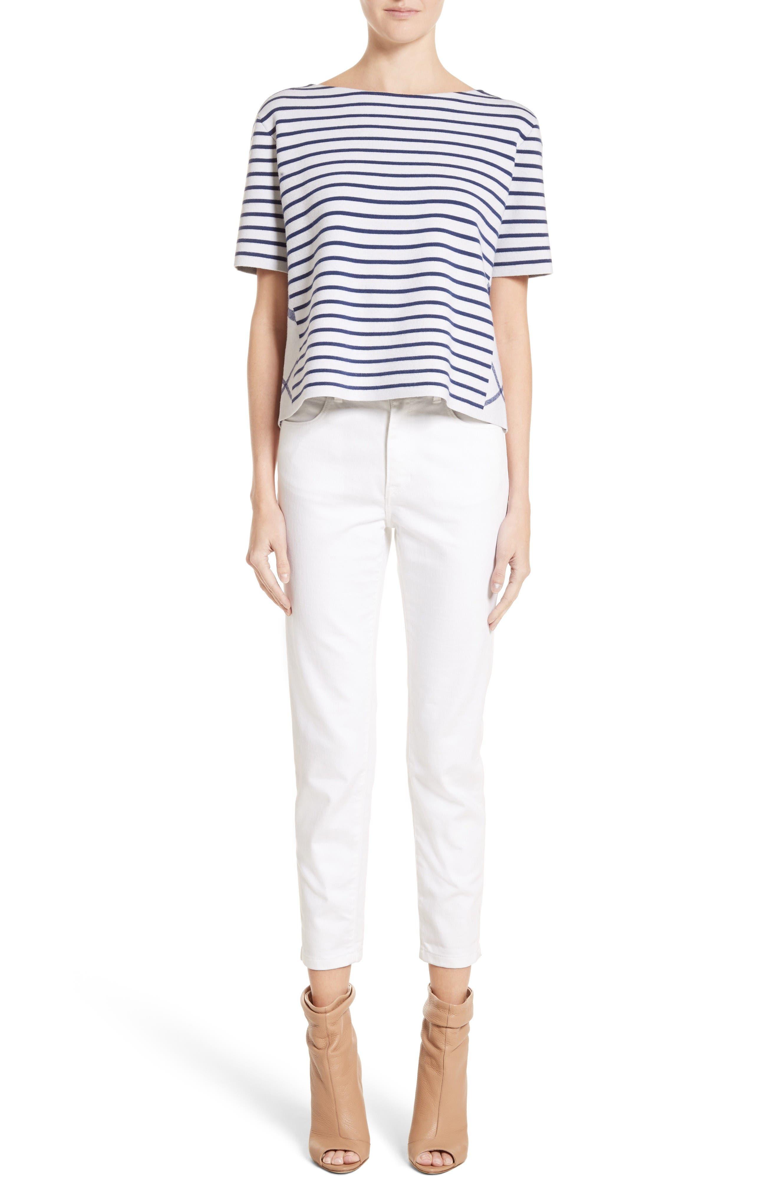 Alternate Image 7  - Burberry Stretch Crop Skinny Jeans